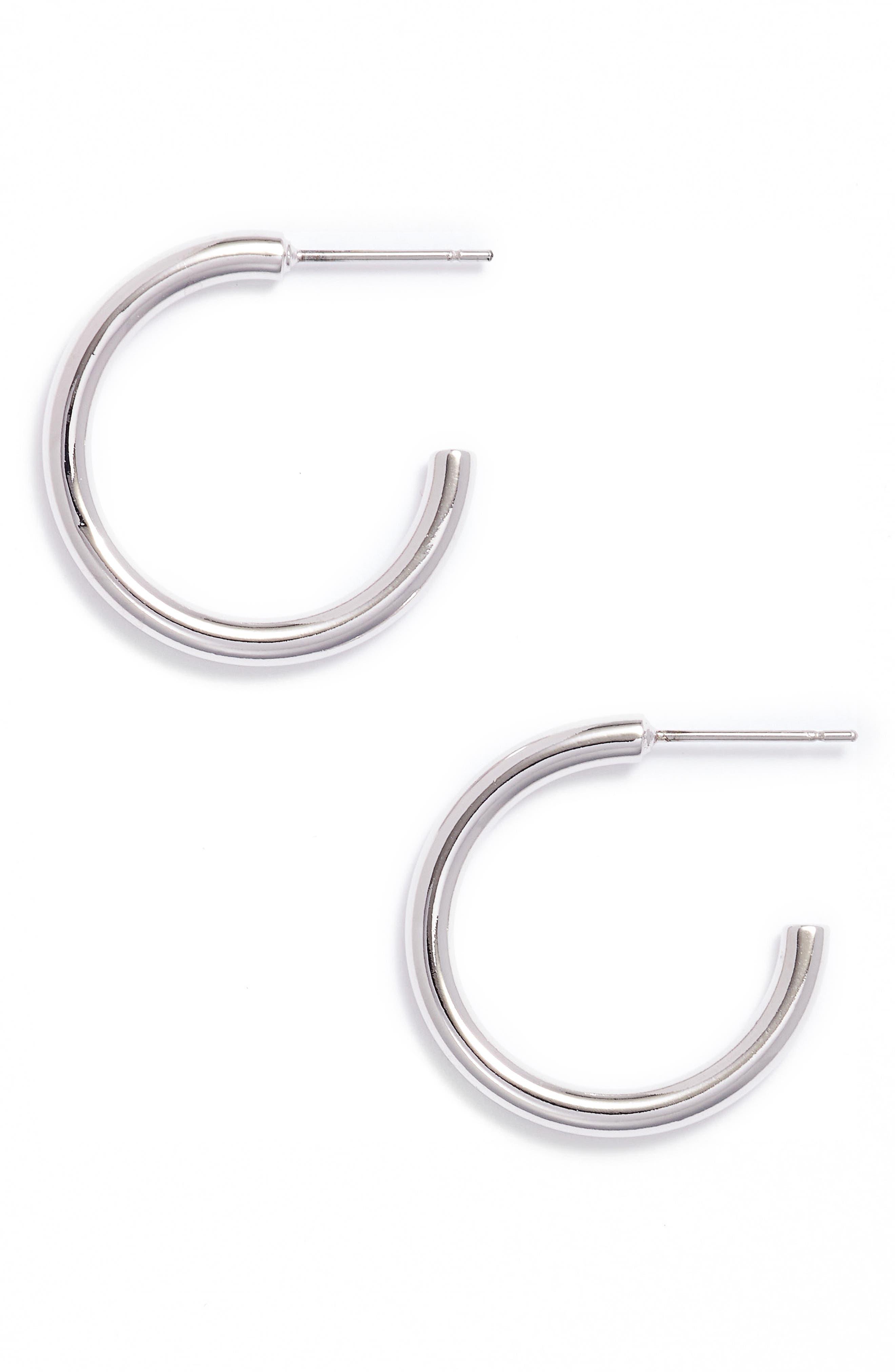 Main Image - Stella Valle Smiley Face Hoop Earrings