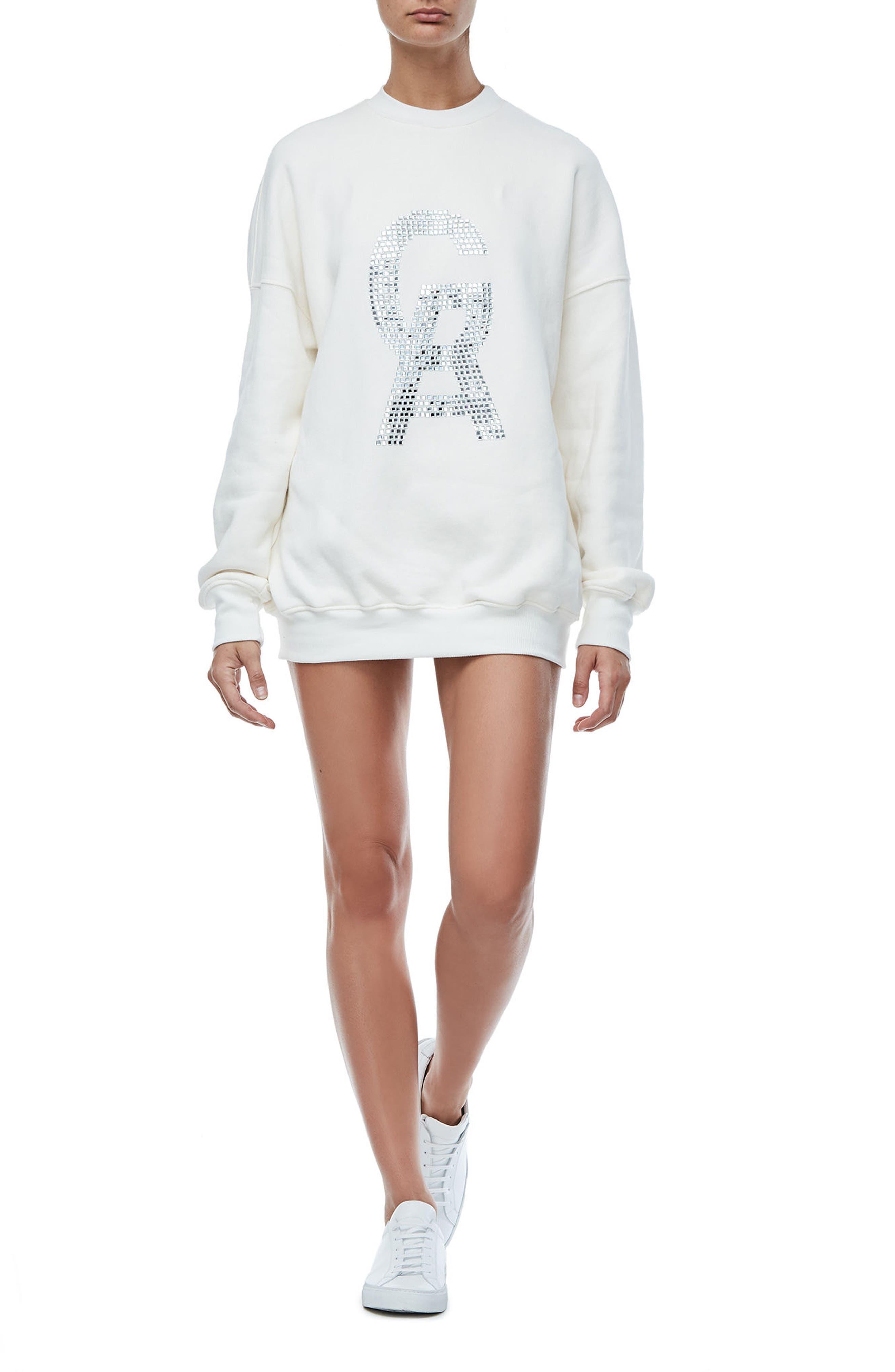 The Crystal Icon Sweatshirt,                             Alternate thumbnail 2, color,                             Good White