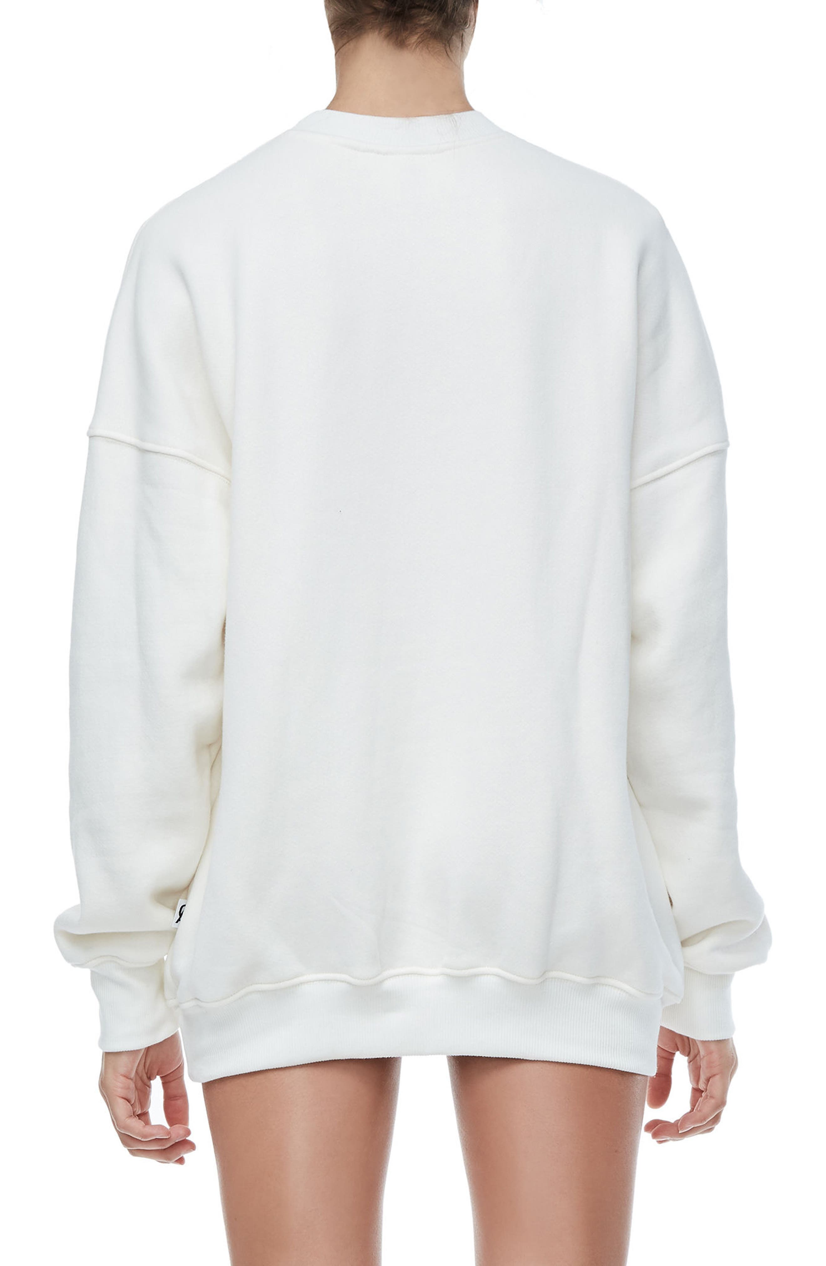 The Crystal Icon Sweatshirt,                             Alternate thumbnail 4, color,                             Good White