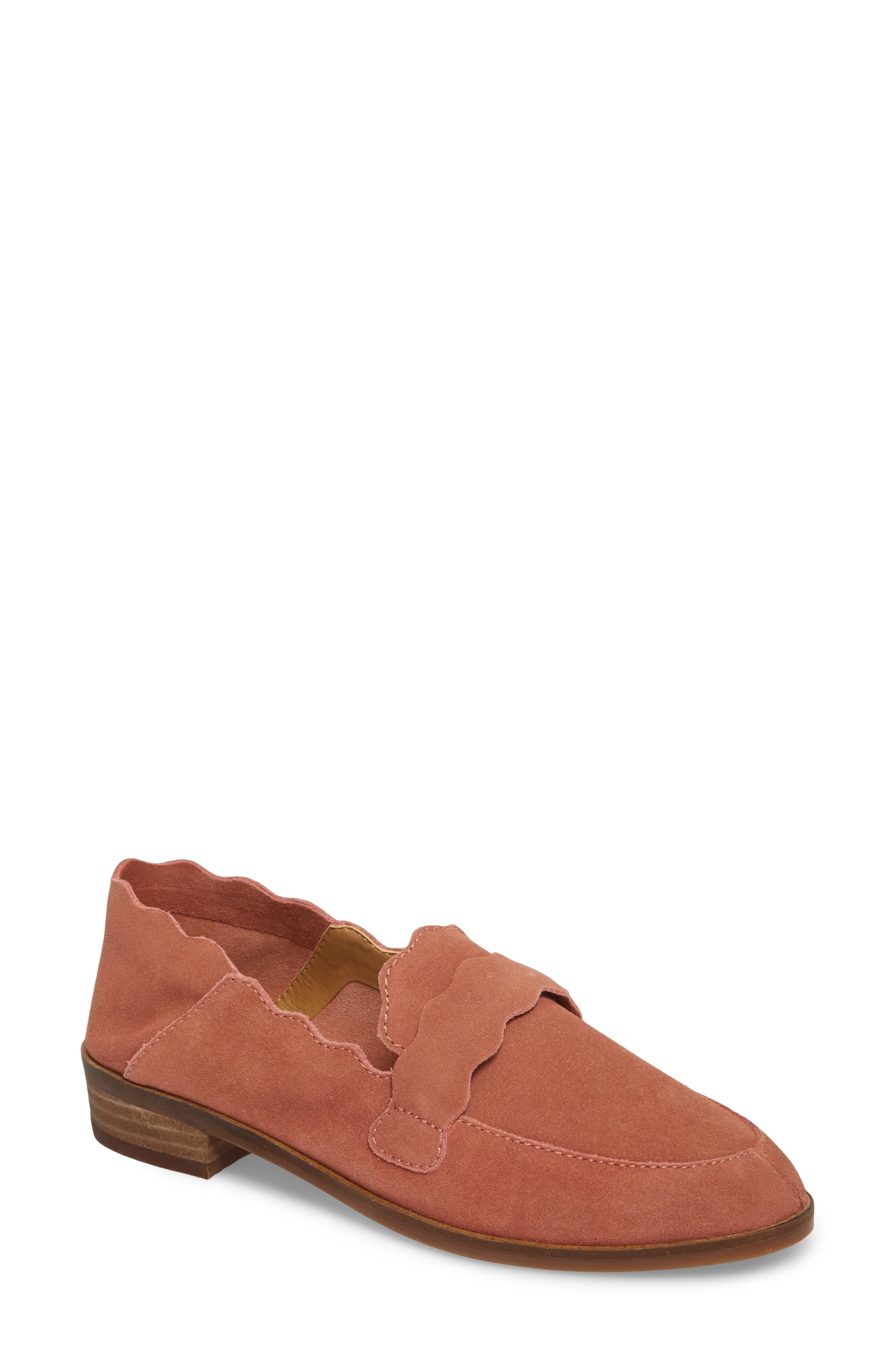 Callister Loafer,                             Main thumbnail 1, color,                             Canyon Rose Suede