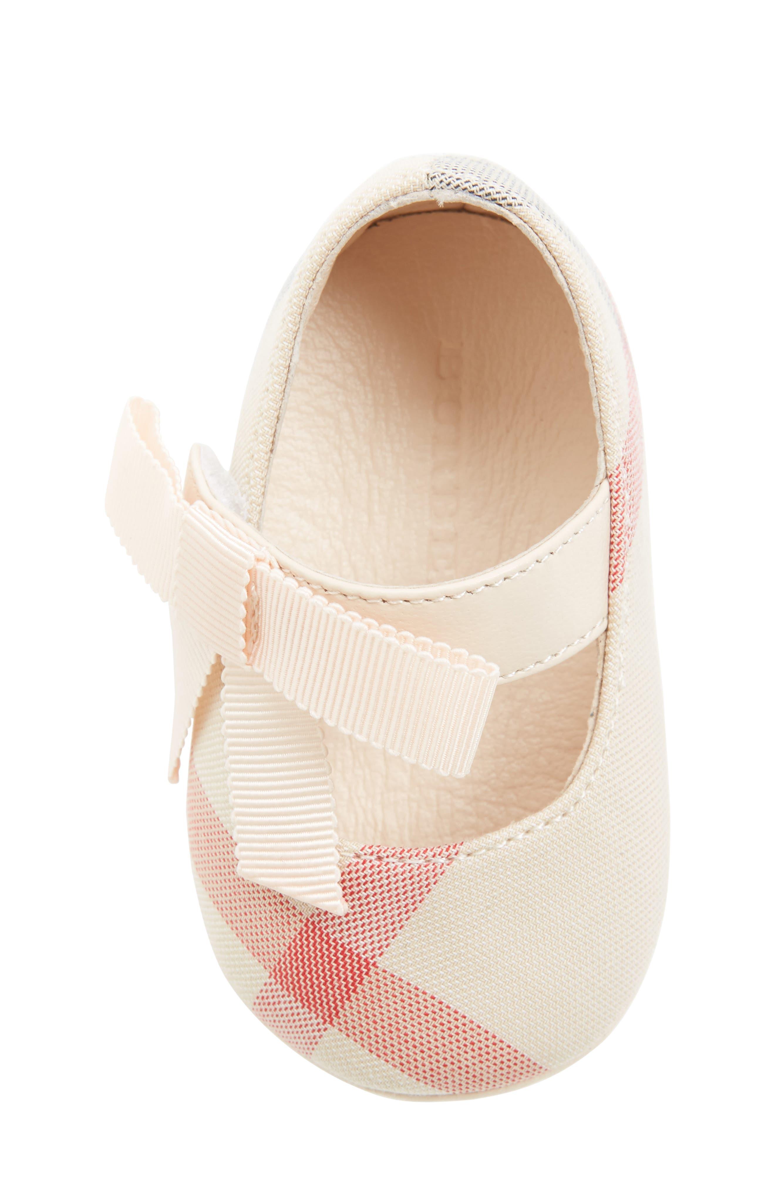 Alternate Image 5  - Burberry Stark Mary Jane Crib Shoe (Baby)