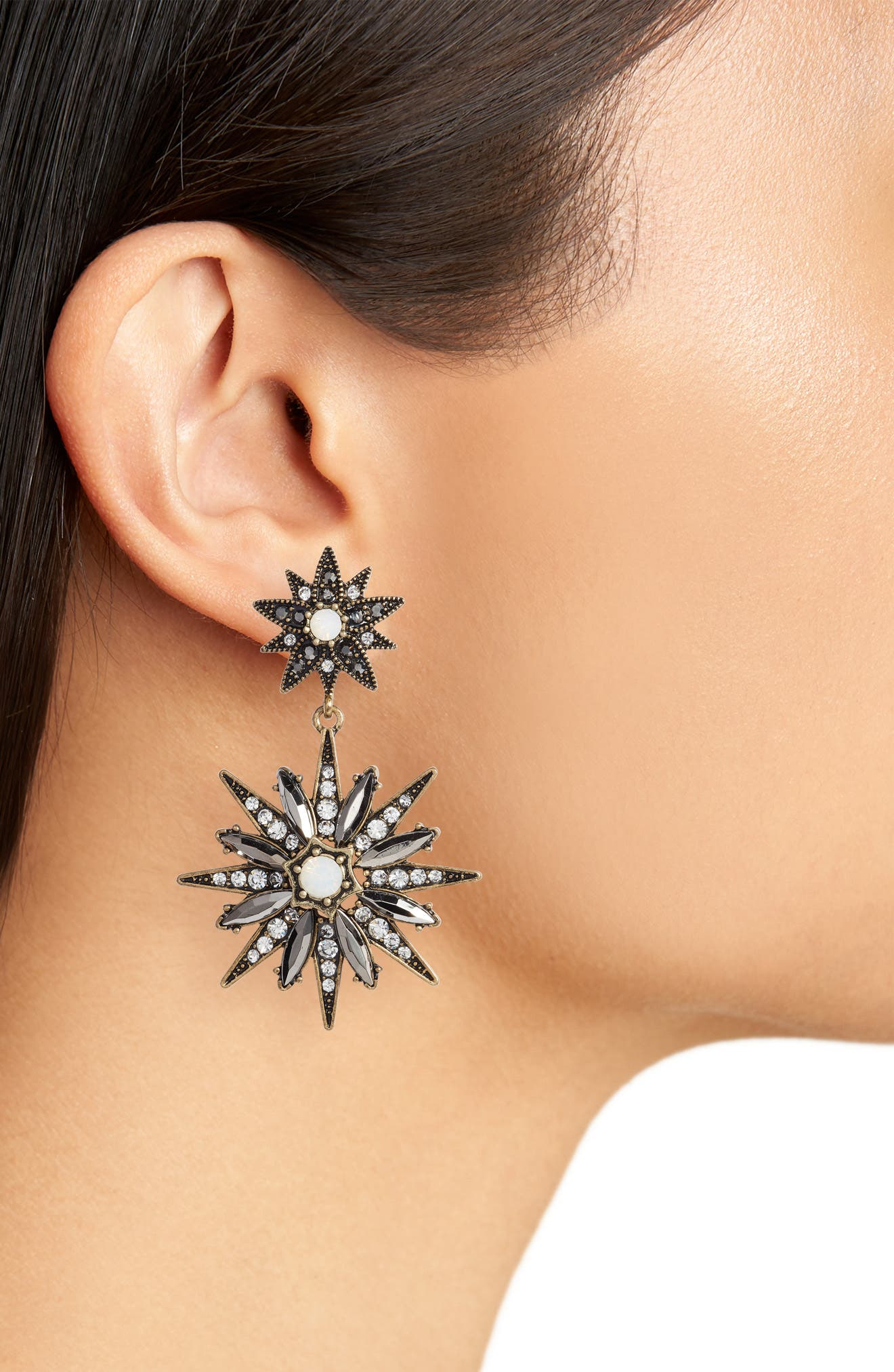 Alternate Image 2  - Stella + Ruby Starburst Statement Earrings