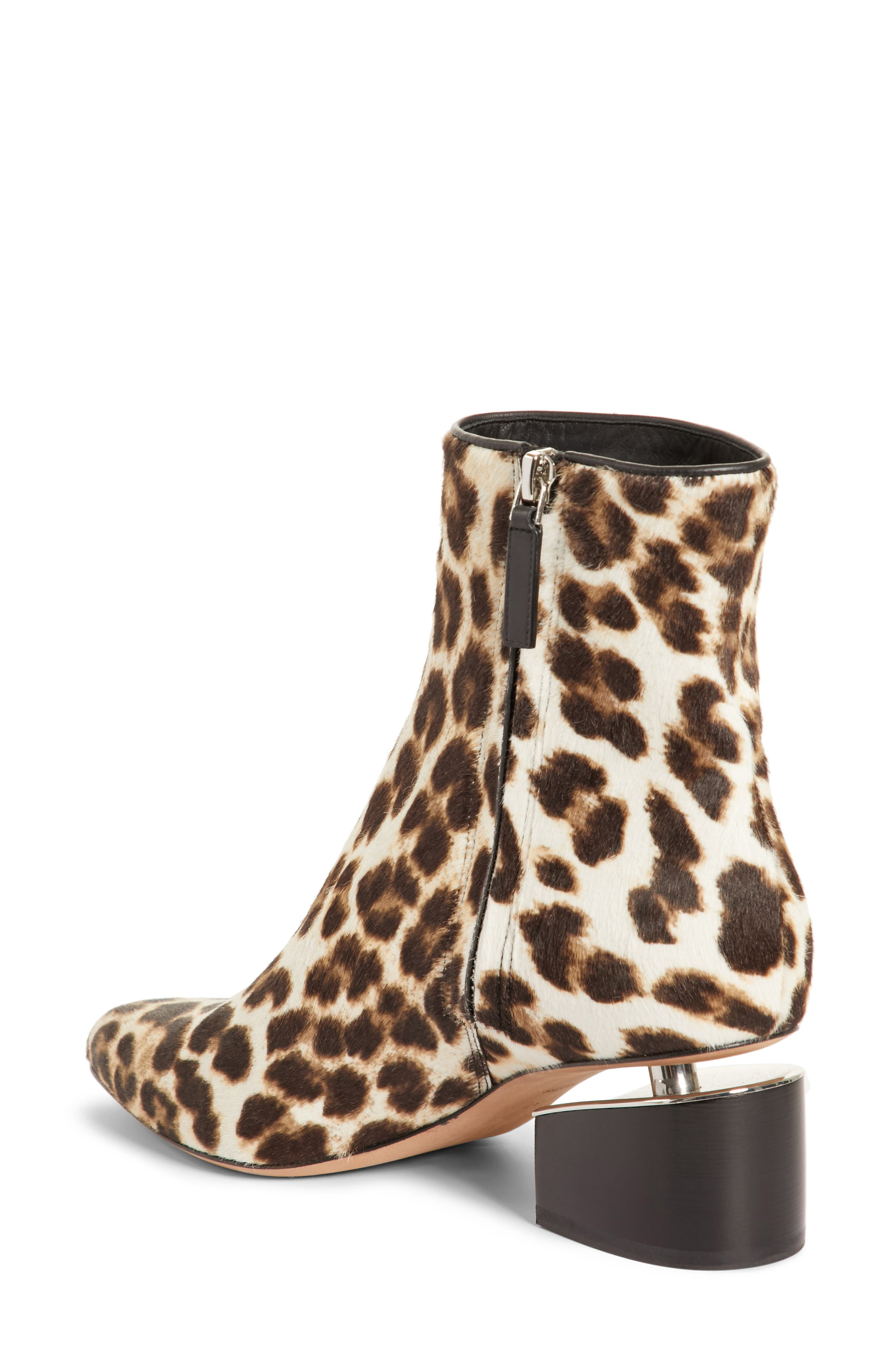 Jude Genuine Calf Hair Bootie,                             Alternate thumbnail 2, color,                             Leopard Print