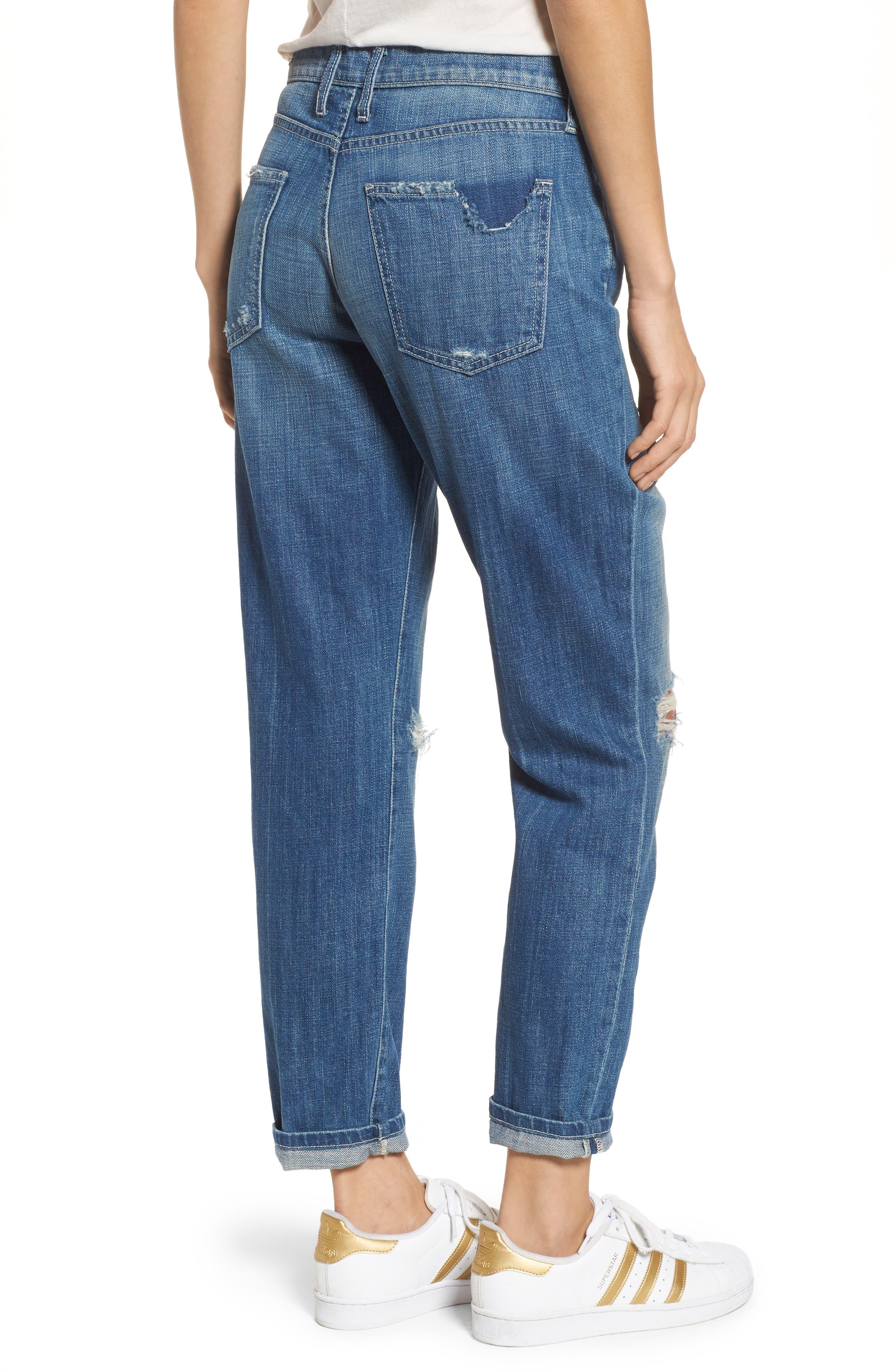 The Fling Boyfriend Jeans,                             Alternate thumbnail 2, color,                             Isley Destroy
