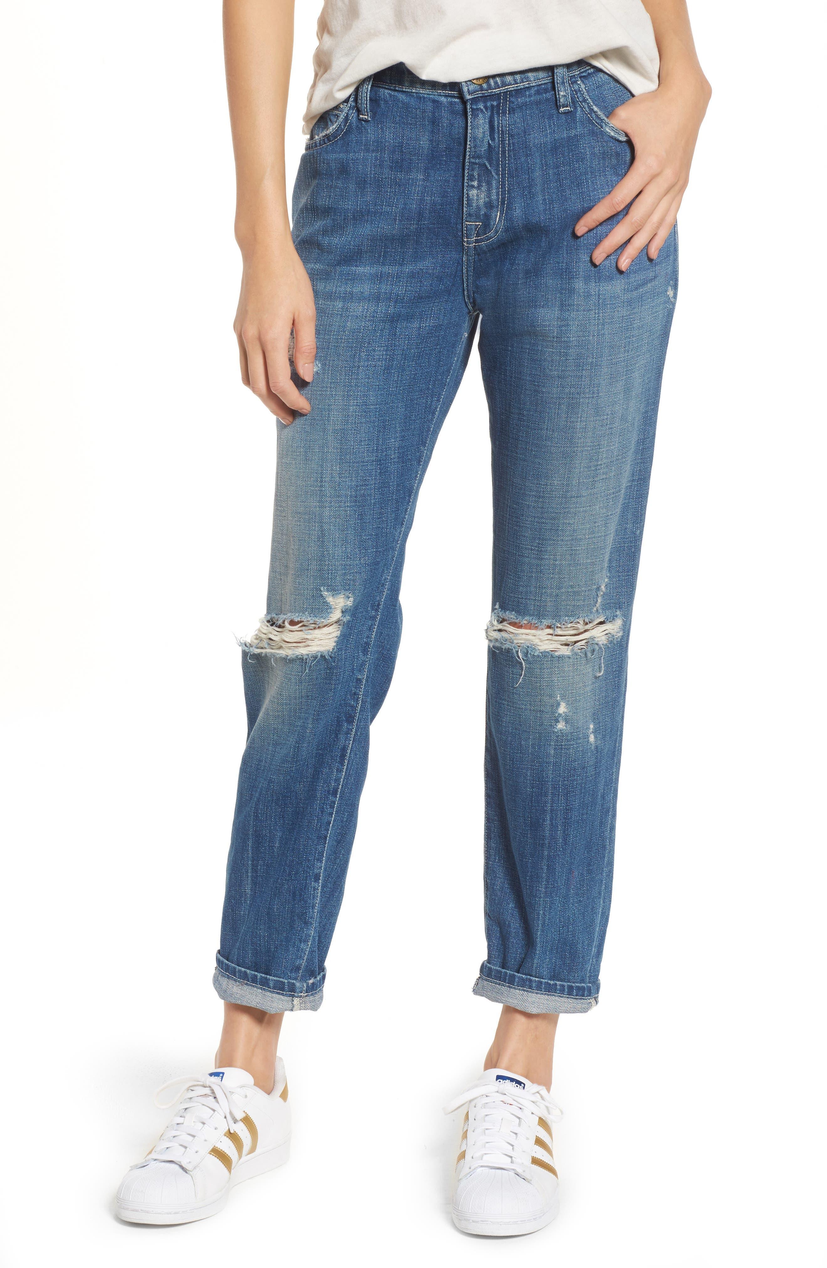 The Fling Boyfriend Jeans,                         Main,                         color, Isley Destroy