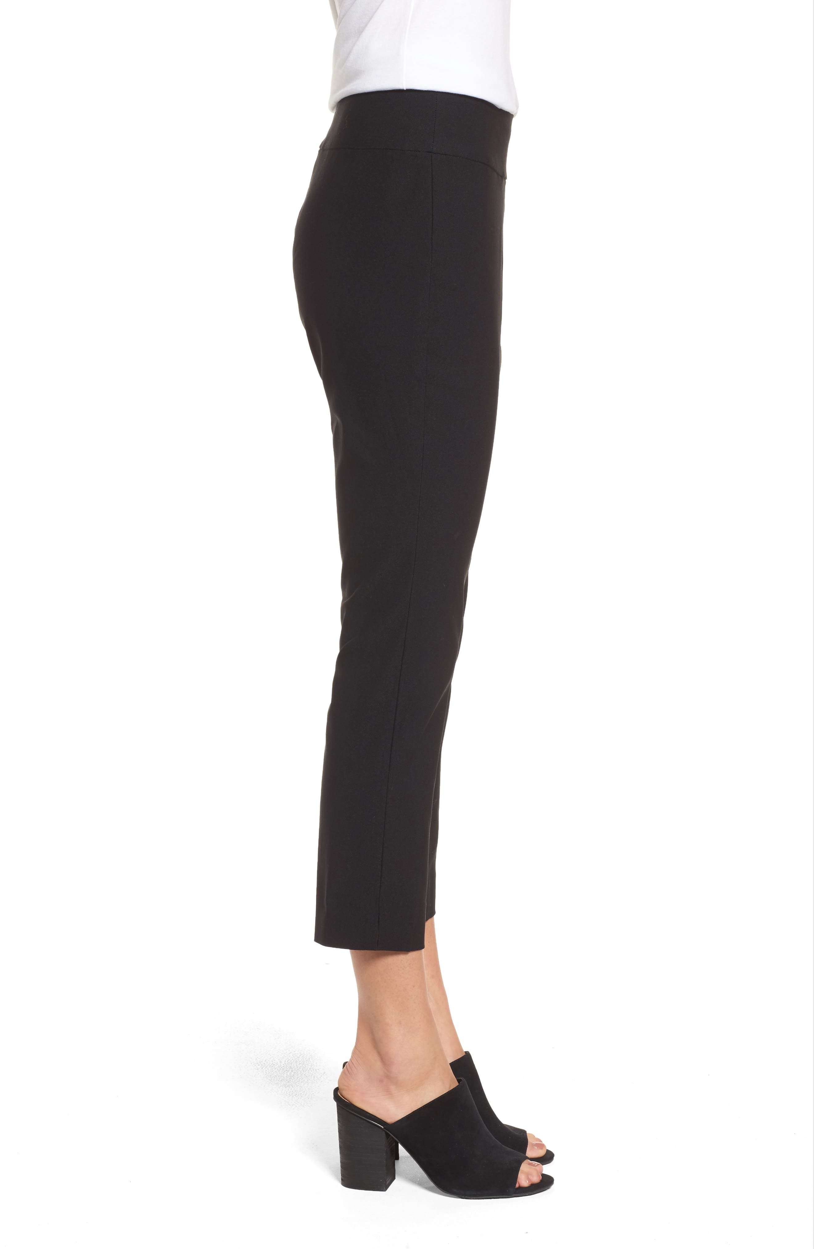 Wonder Stretch Crop Pants,                             Alternate thumbnail 3, color,                             Black Onyx
