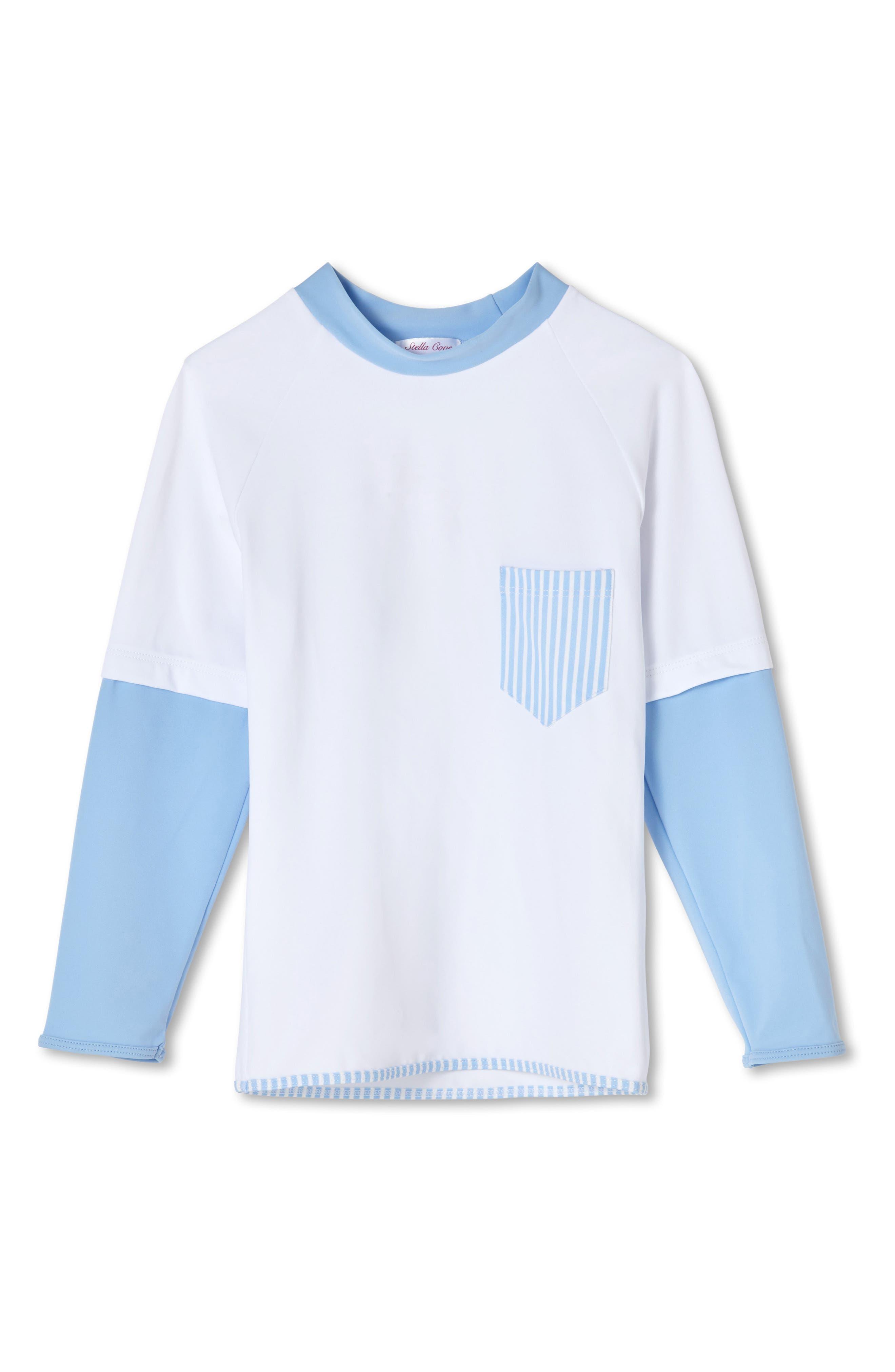 Stripe Pocket Rashguard,                         Main,                         color, Blue