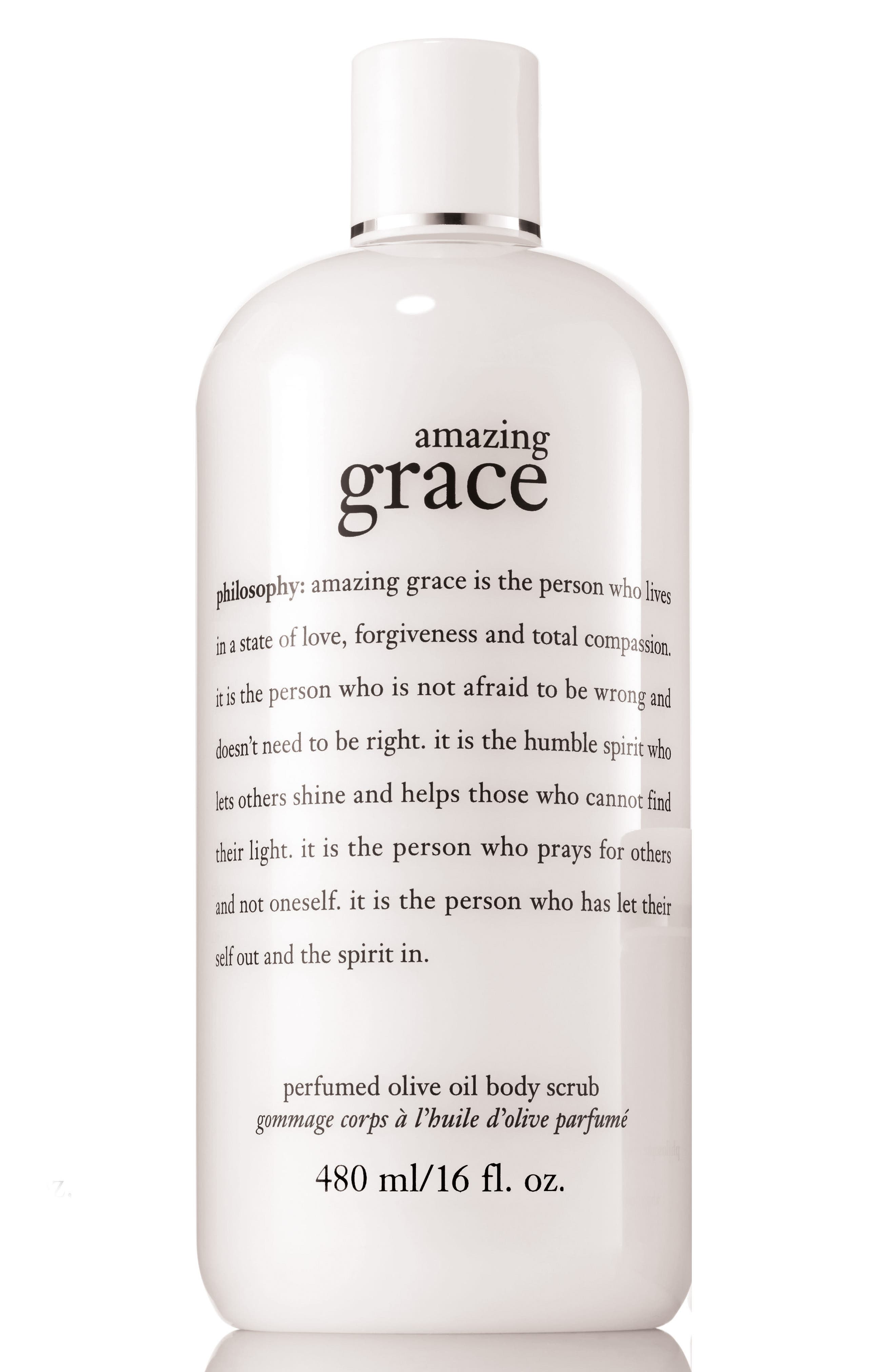 amazing grace perfumed olive oil body scrub,                             Main thumbnail 1, color,                             No Color