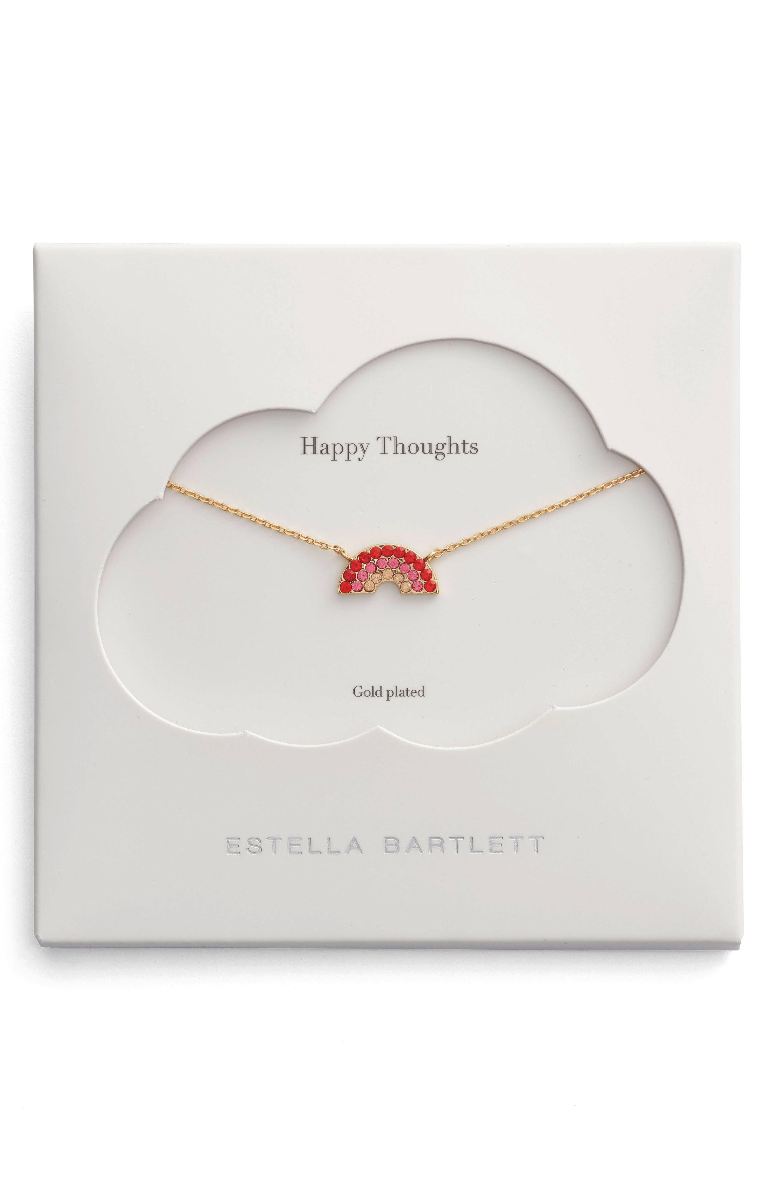Main Image - Estella Bartlett Happy Thoughts Rainbow Necklace
