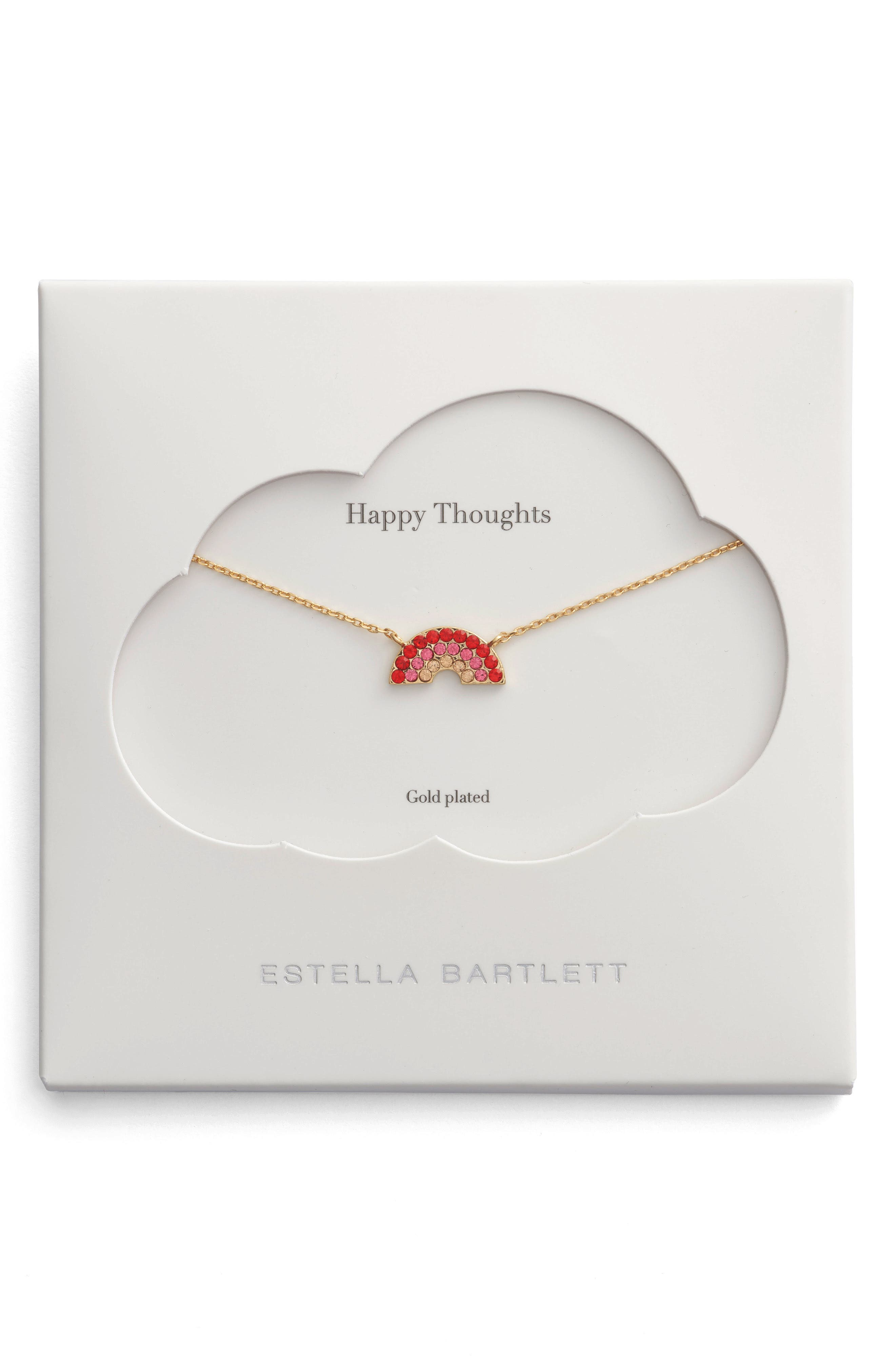 Happy Thoughts Rainbow Necklace,                         Main,                         color, Gold