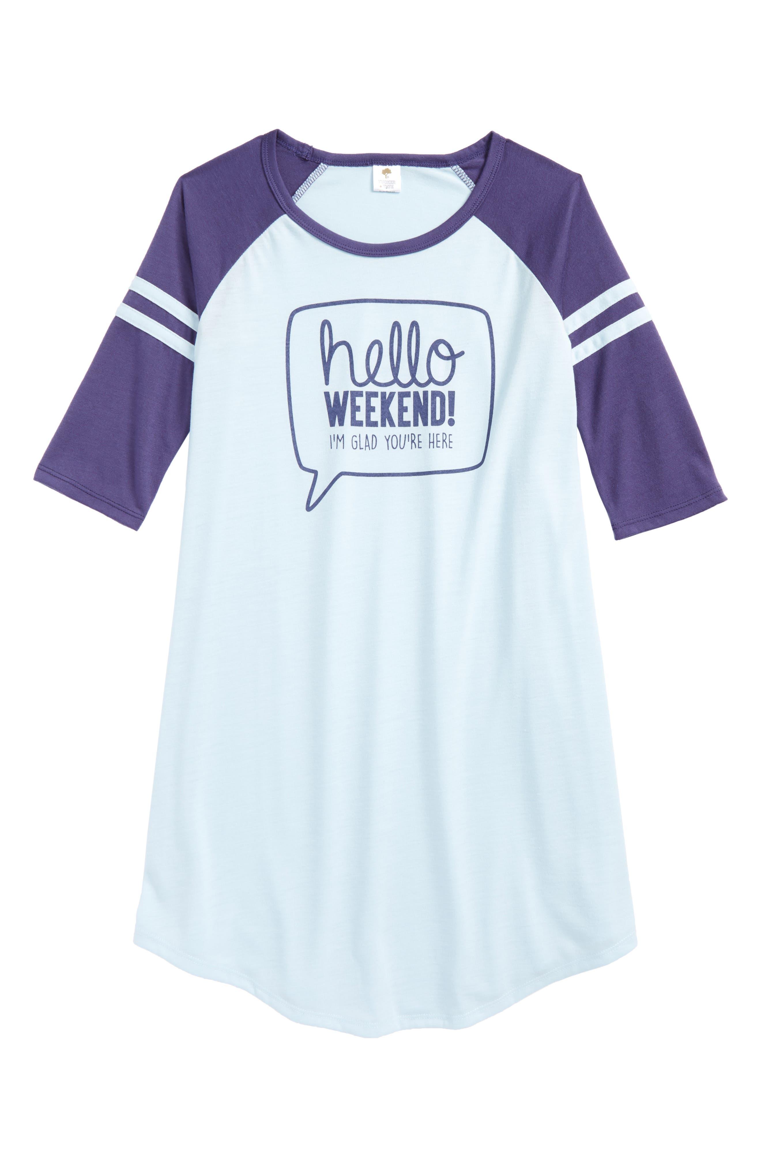 Main Image - Tucker + Tate Graphic Sleep Shirt (Big Girls)