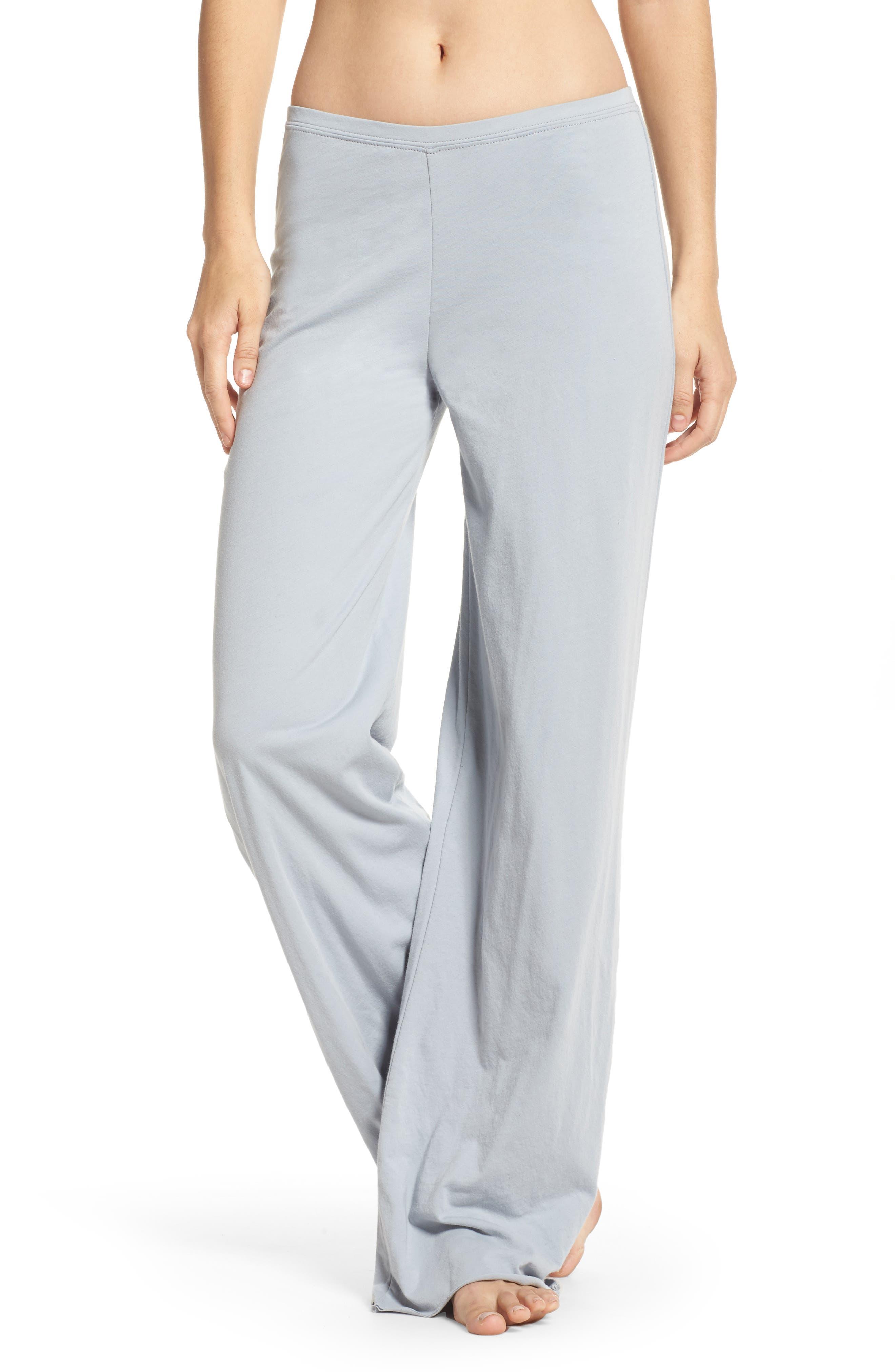 Alternate Image 1 Selected - skin Pima Cotton Lounge Pants