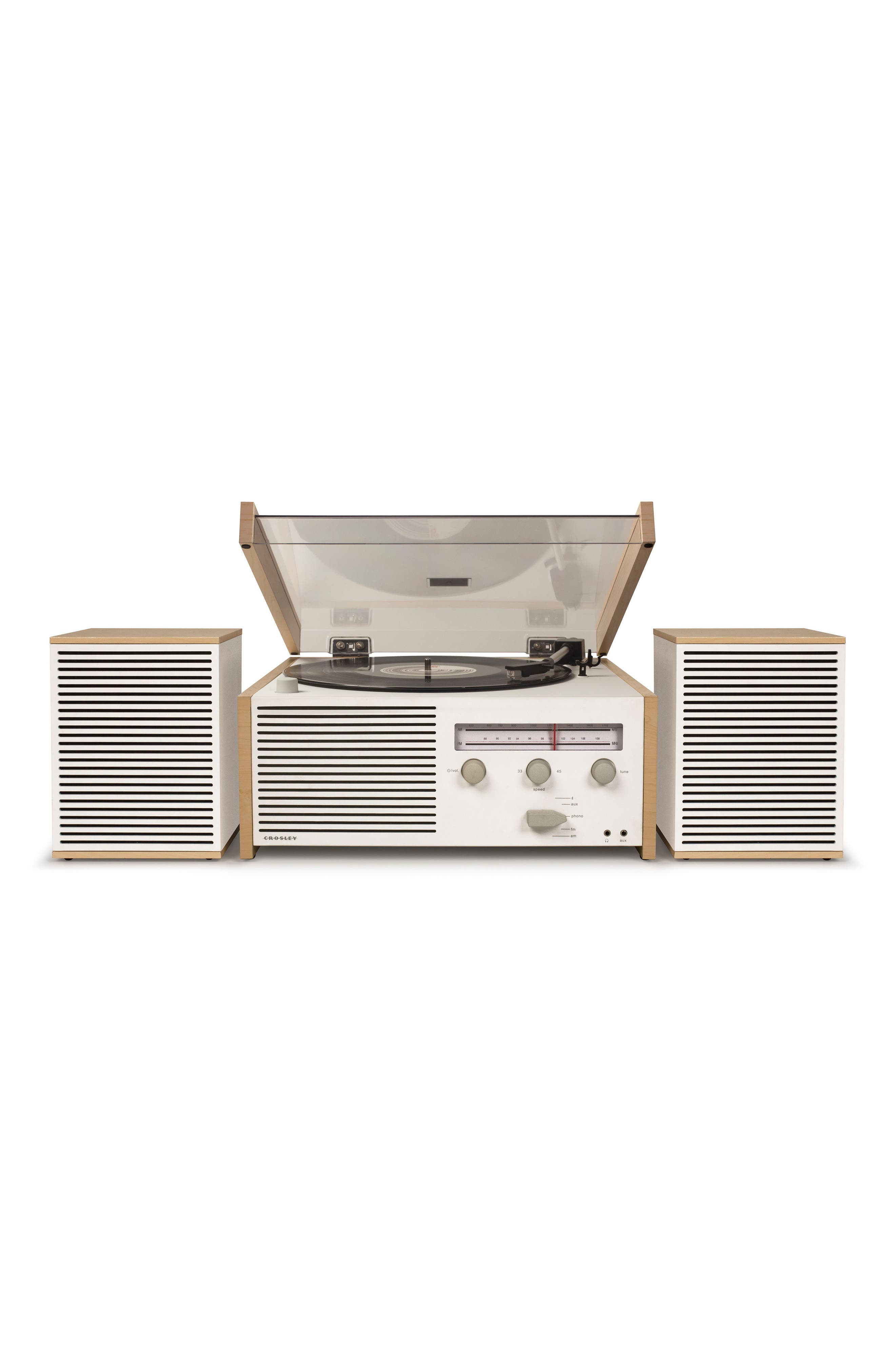 Switch II Turntable & Speakers Entertainment System,                             Main thumbnail 1, color,                             Natural