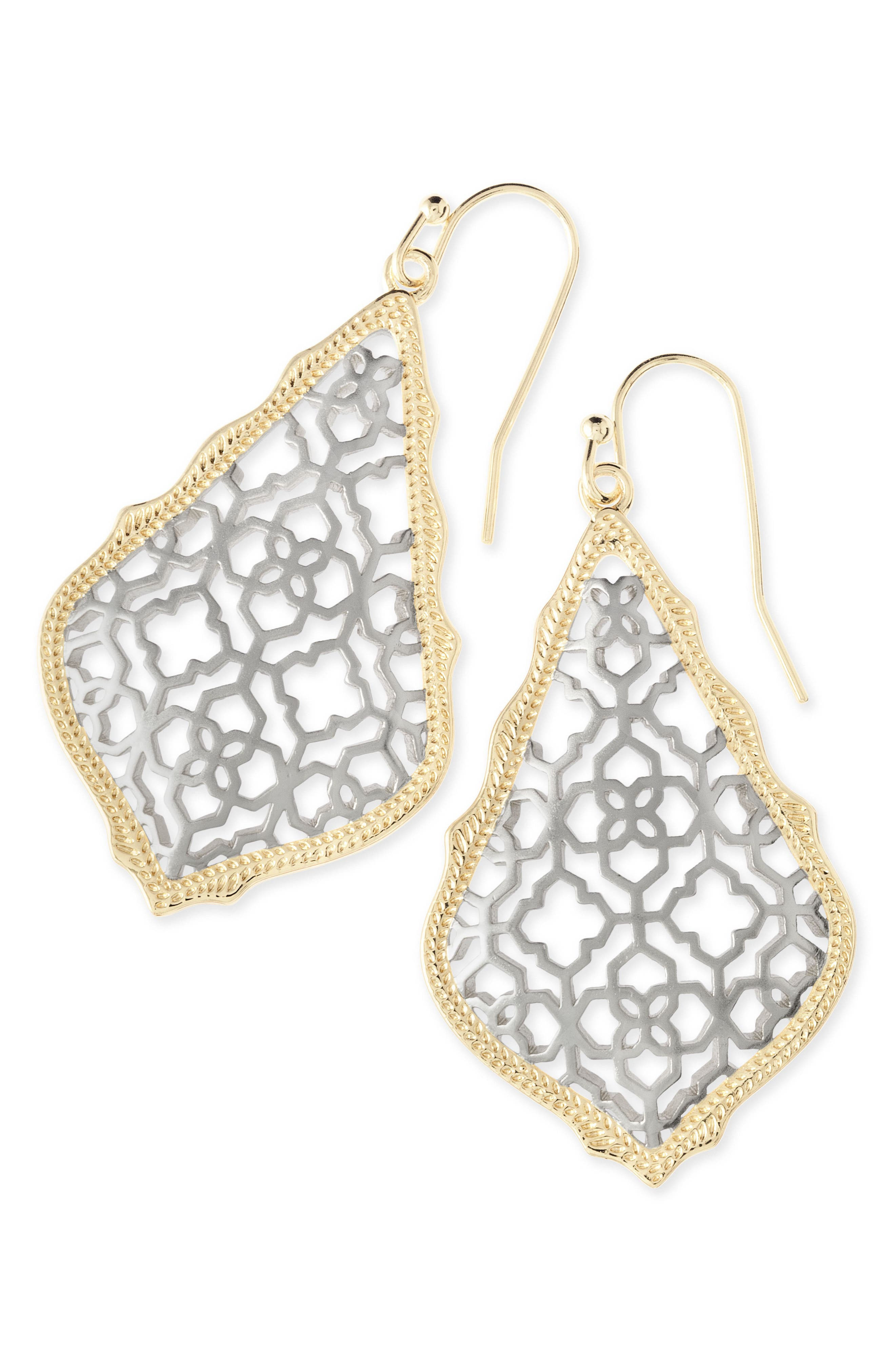 'Addie' Drop Earrings,                         Main,                         color, Gold Rhodium