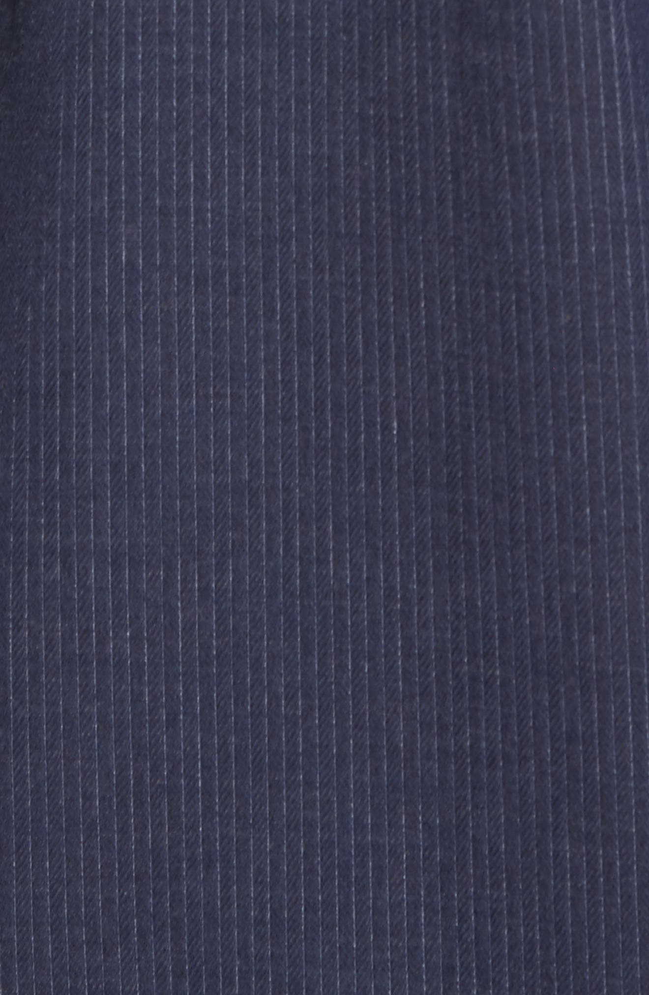 Slim Fit Stripe Workwear Shirt,                             Alternate thumbnail 5, color,                             Navy
