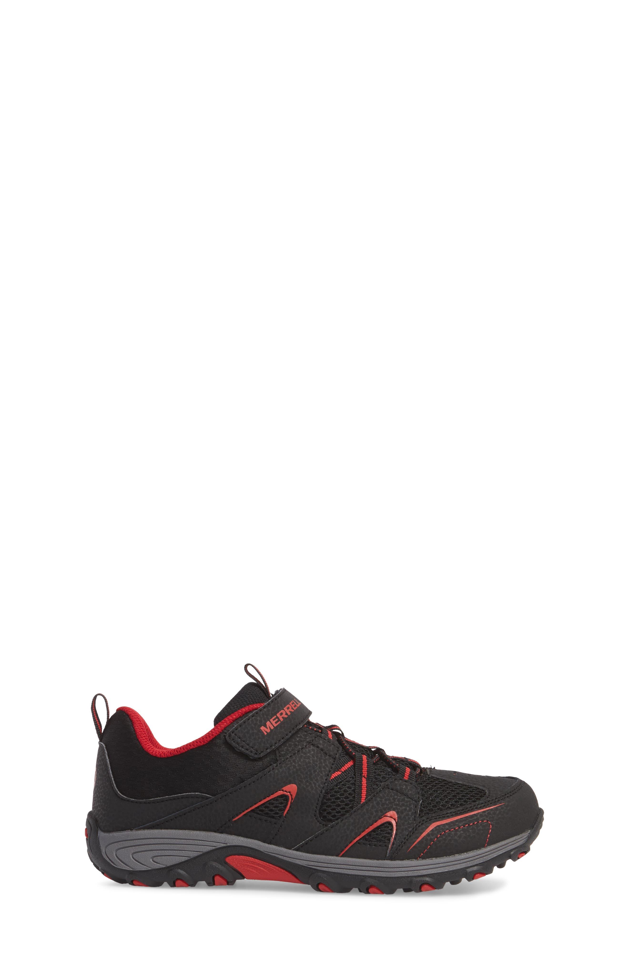 Trail Chaser Sneaker,                             Alternate thumbnail 3, color,                             Black/ Red