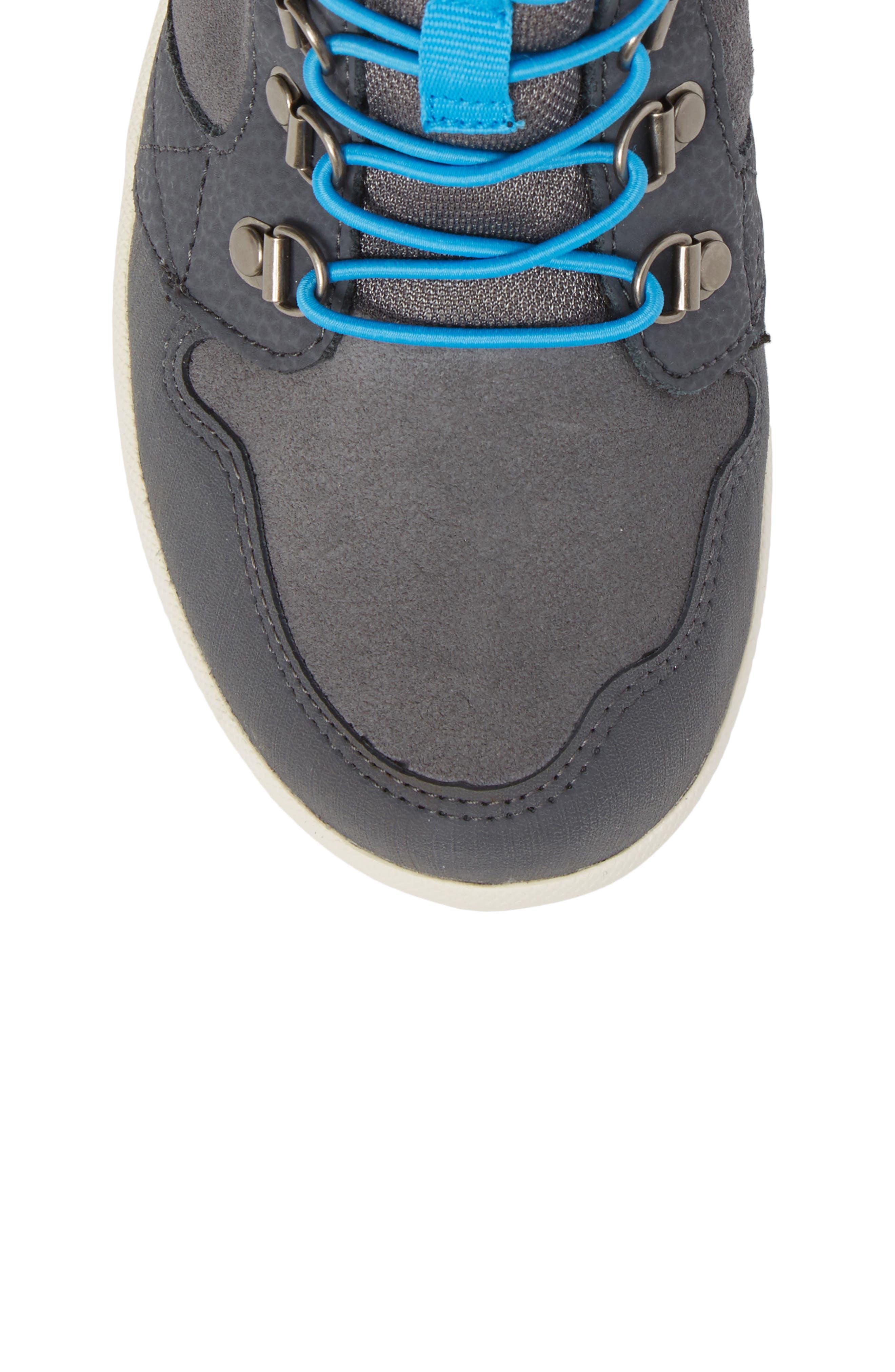 Freewheel Mid Top Waterproof Sneaker Boot,                             Alternate thumbnail 5, color,                             Grey