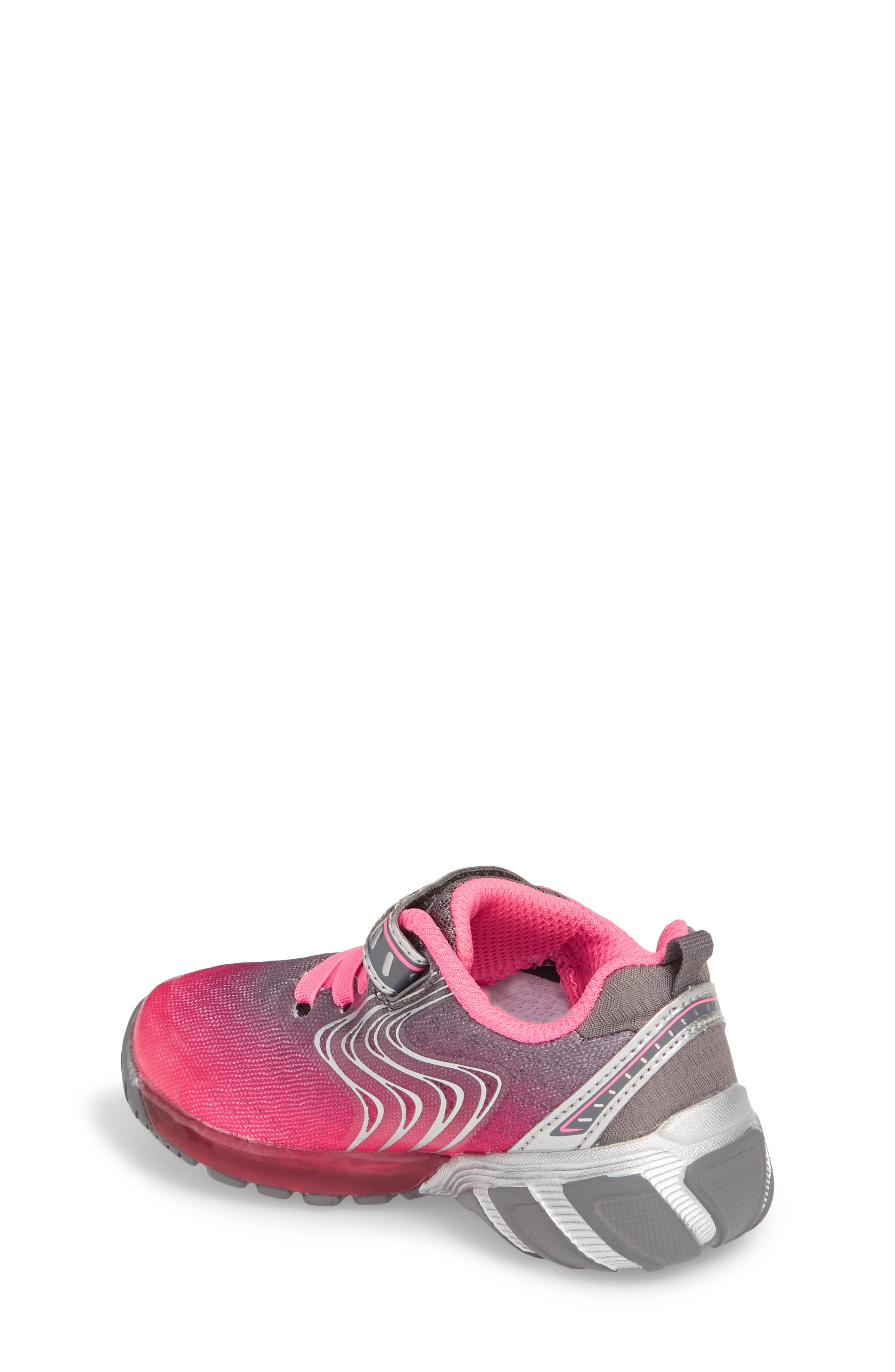 Lights Lux Light-Up Sneaker,                             Alternate thumbnail 2, color,                             Pink Synthetic/ Textile
