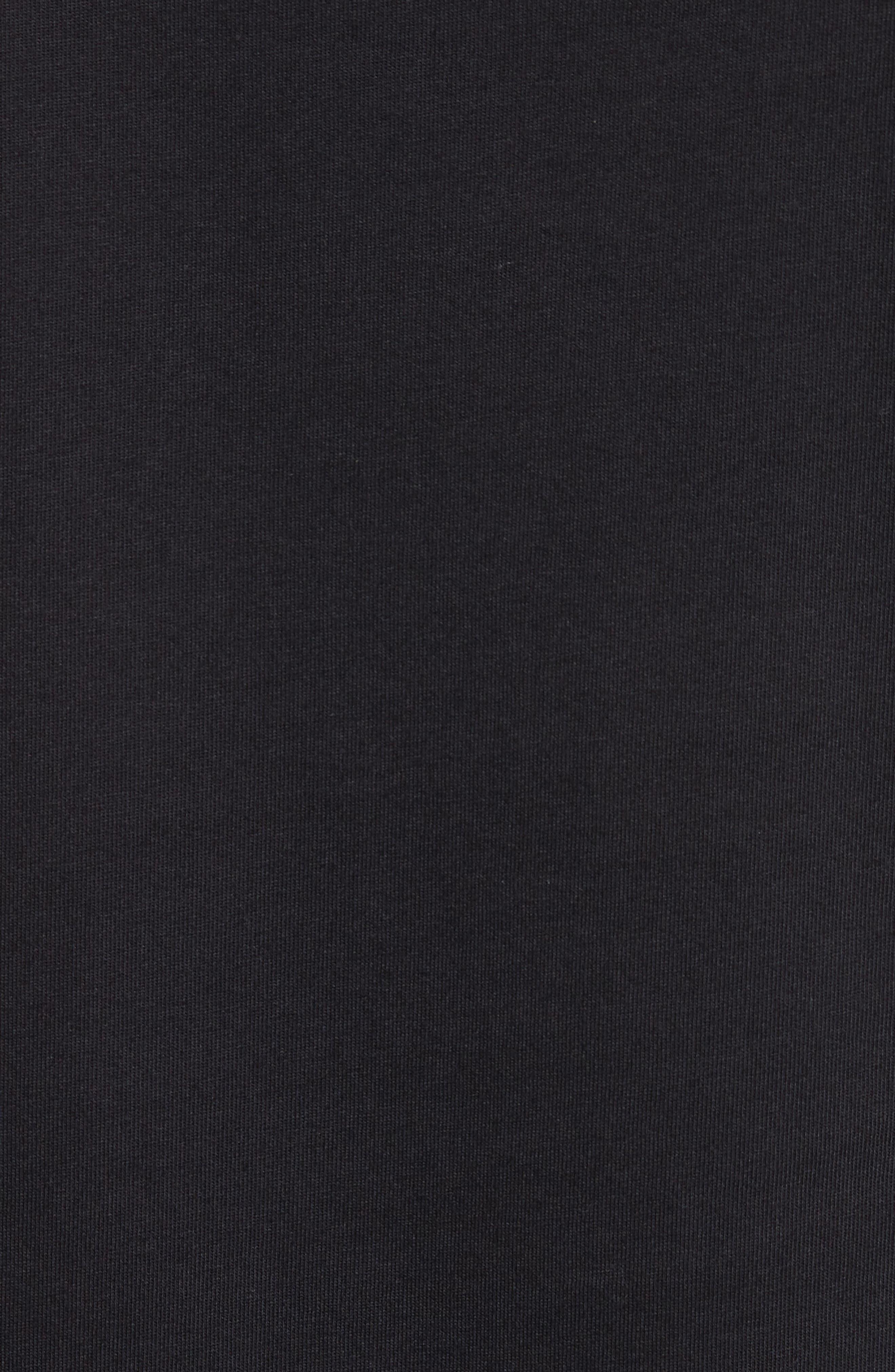 Embroidered Zebra T-Shirt,                             Alternate thumbnail 5, color,                             Black
