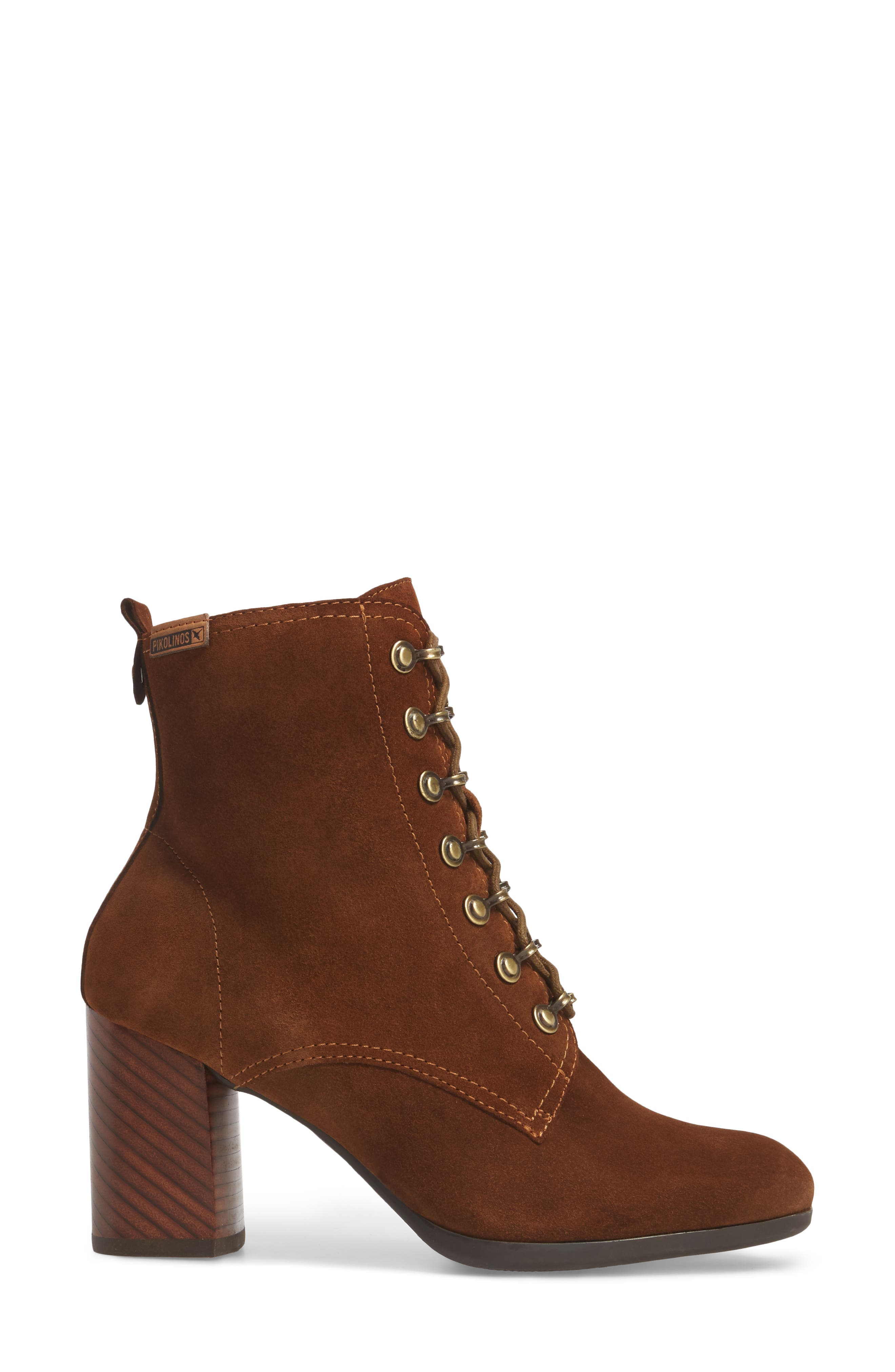 Aragon Lace-Up Boot,                             Alternate thumbnail 3, color,                             Brandy Leather