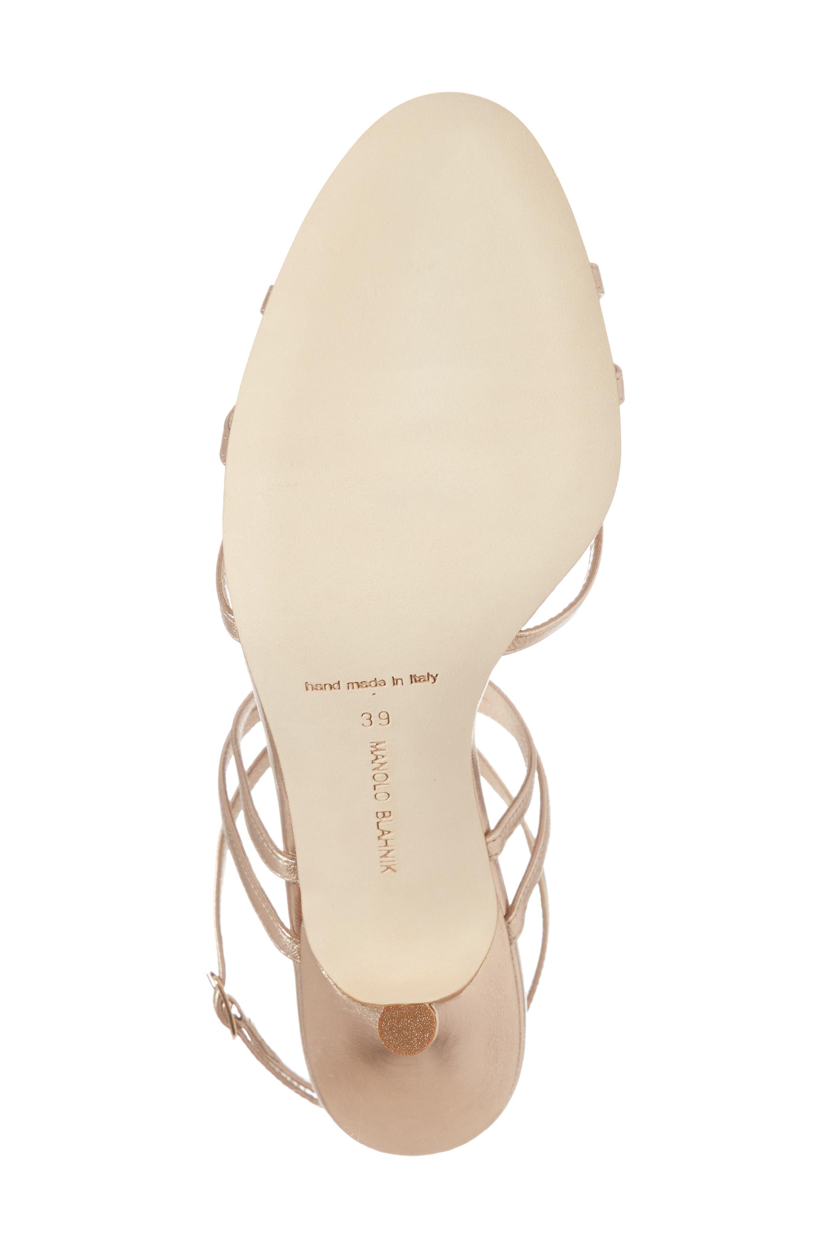 Alternate Image 6  - Manolo Blahnik Naro Ankle Strap Sandal (Women)