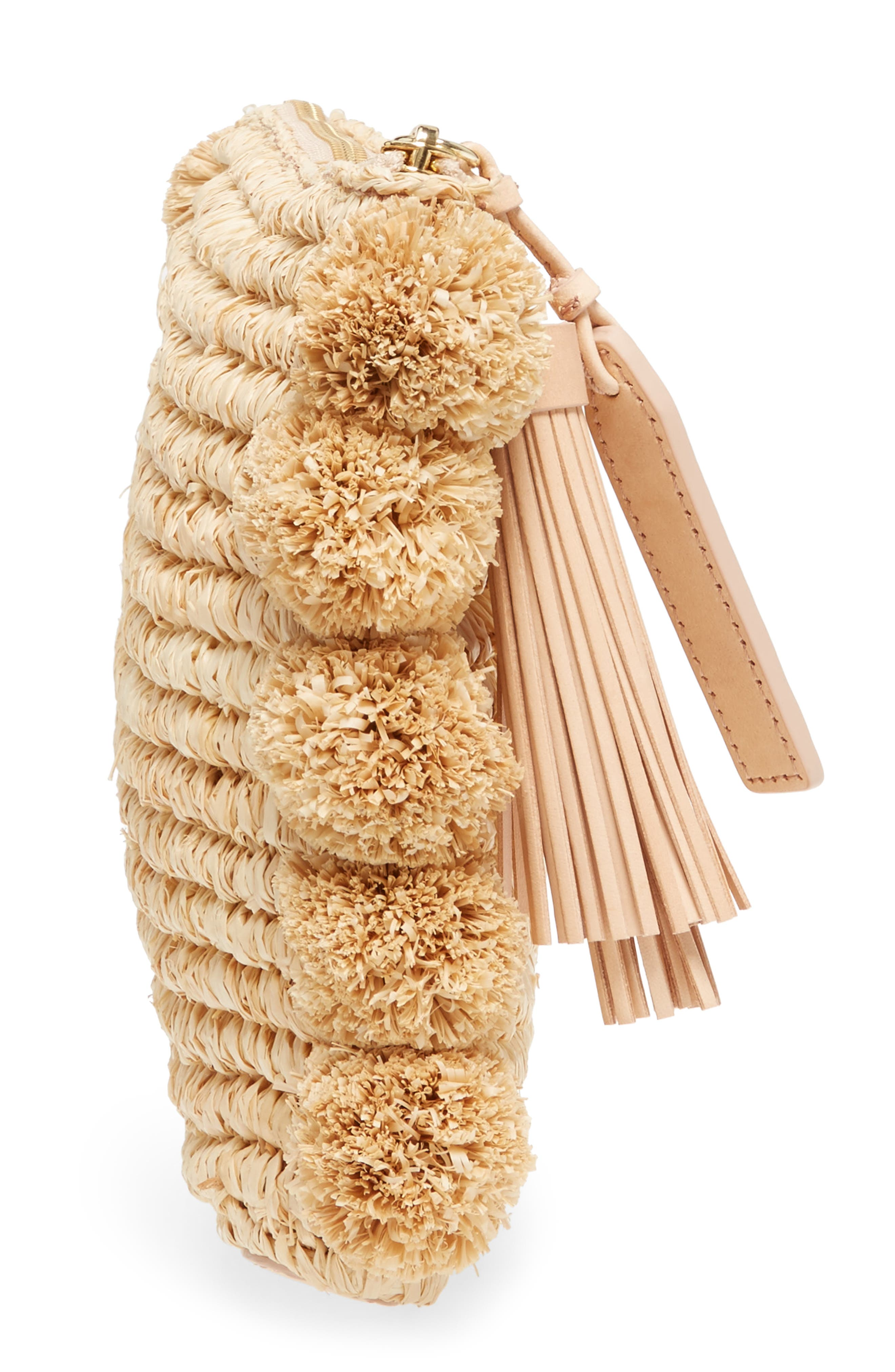 Straw Tassel Pouch,                             Alternate thumbnail 5, color,                             Natural