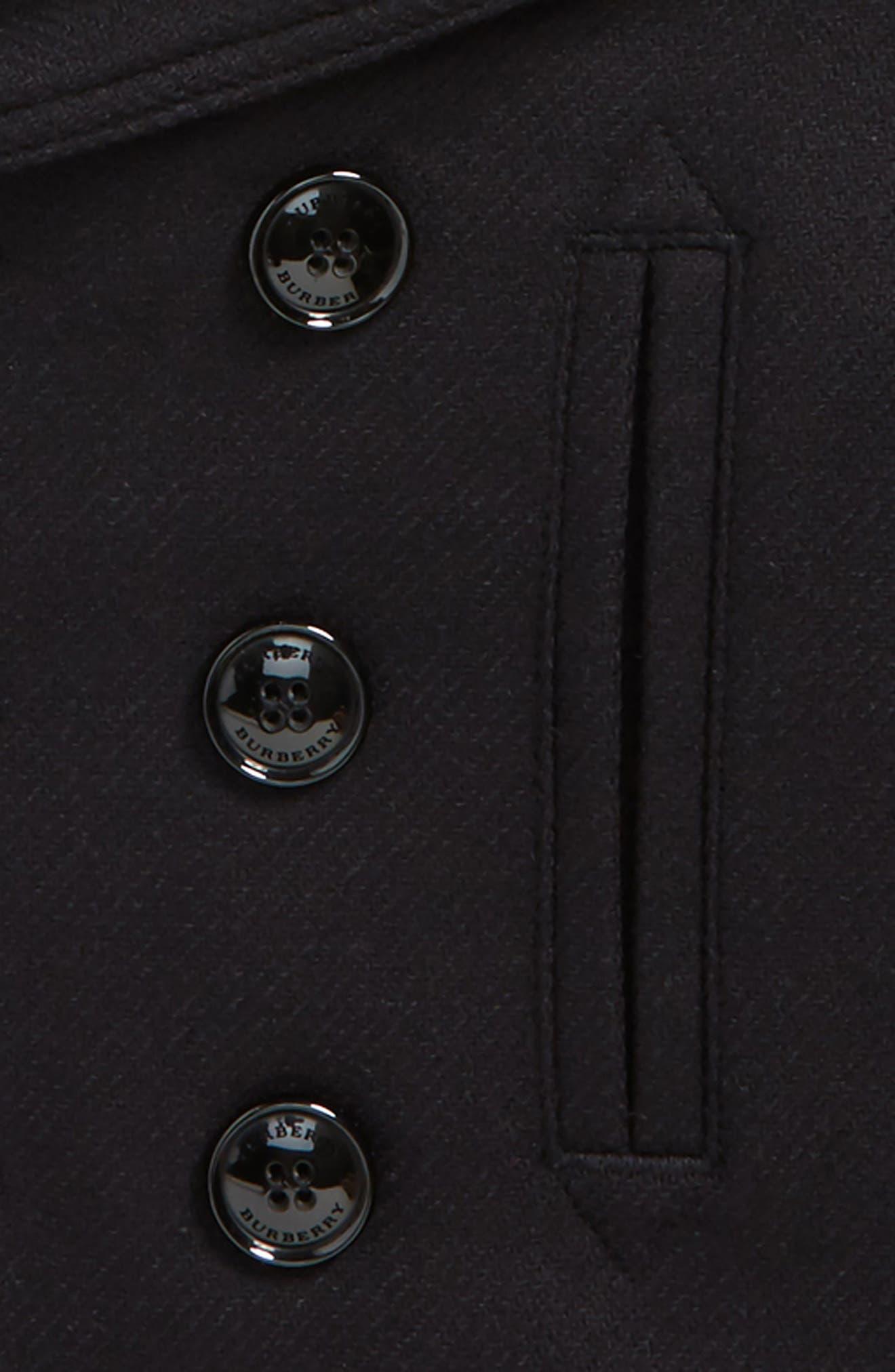 Alternate Image 2  - Burberry Pat 2-in-1 Vest & Peacoat (Little Girls & Big Girls)