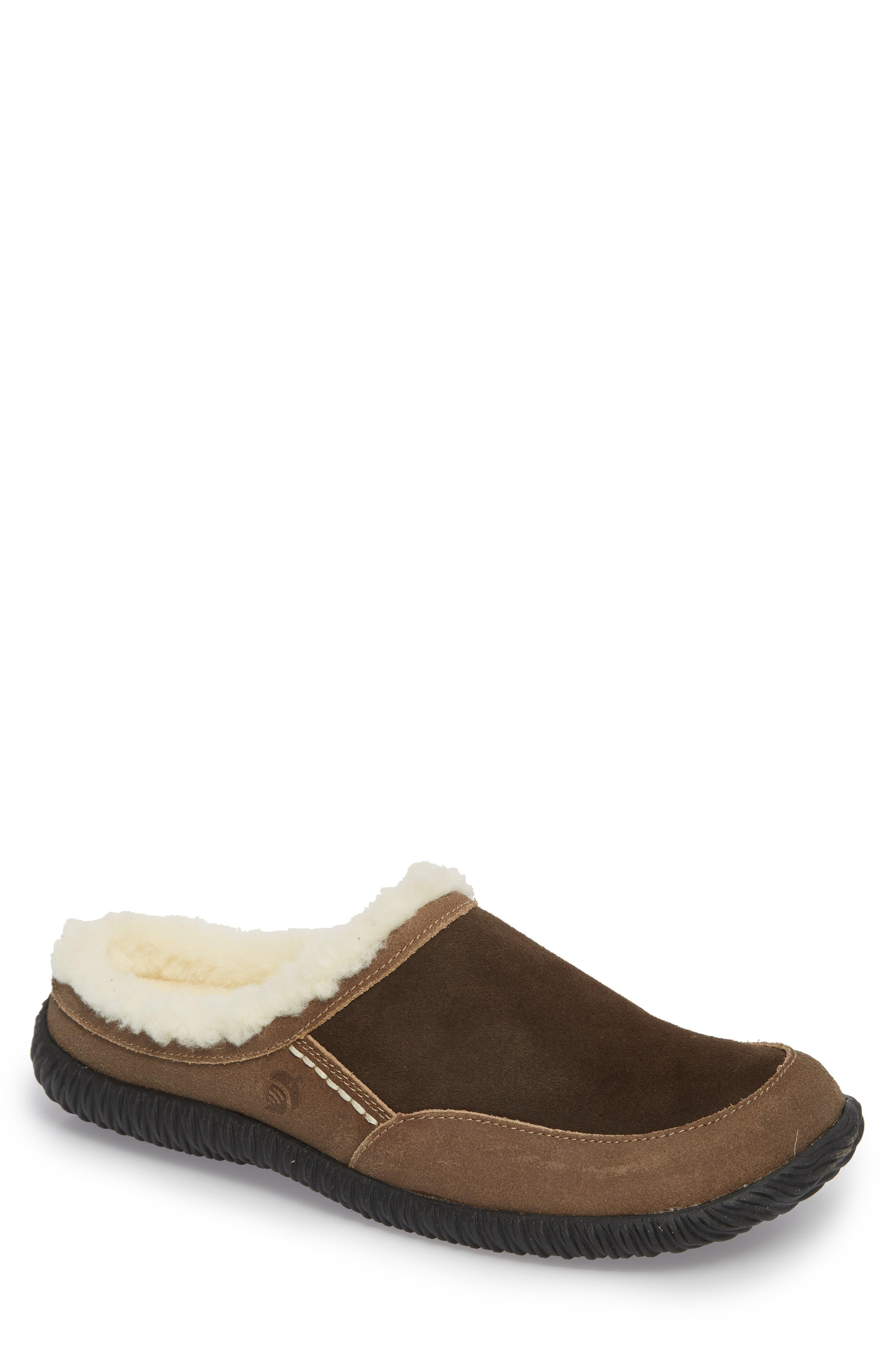 'Rambler' Mule Slipper,                         Main,                         color, Chocolate/ Brown