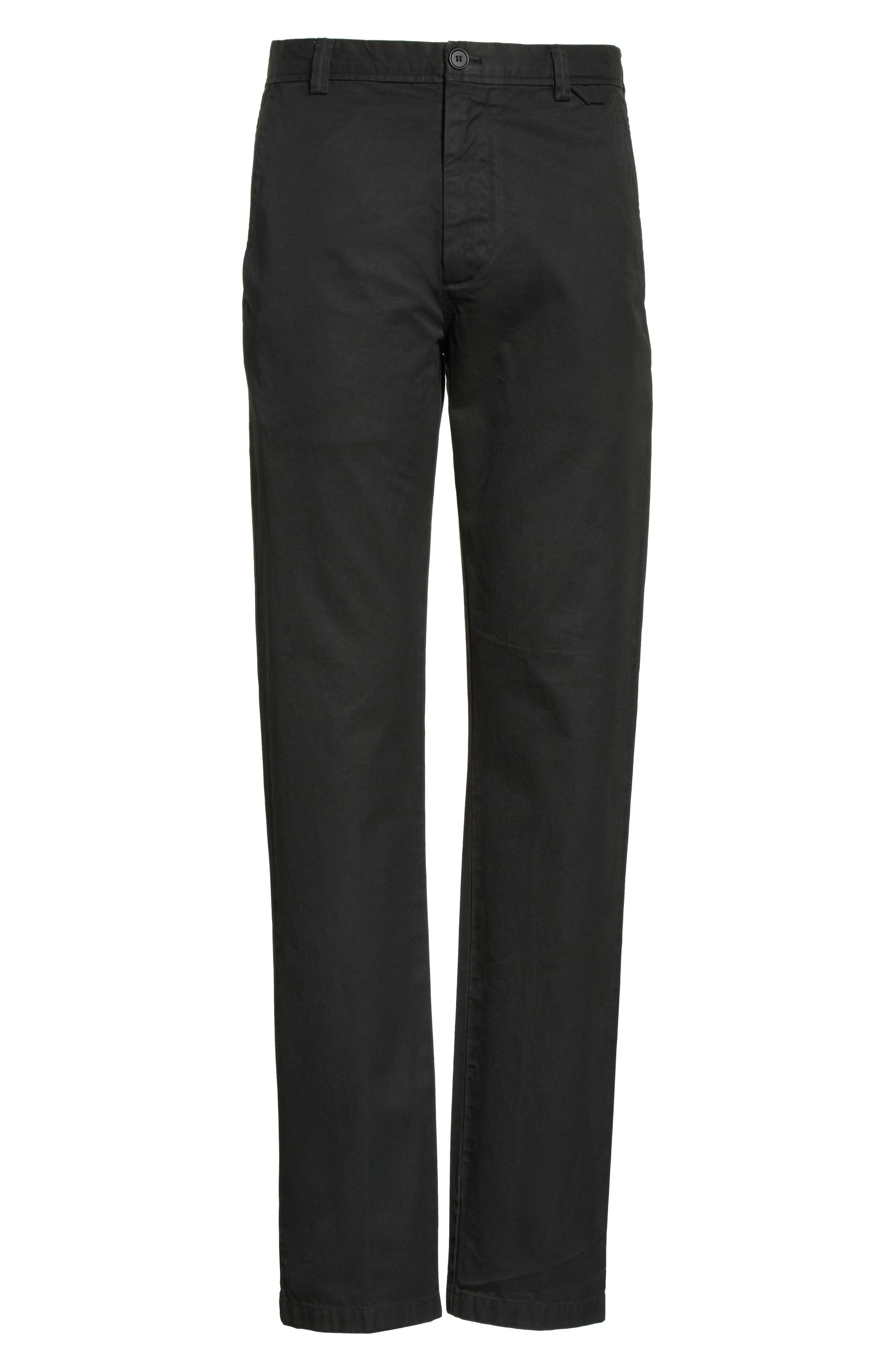 Isher Chinos,                             Alternate thumbnail 6, color,                             Coal Black