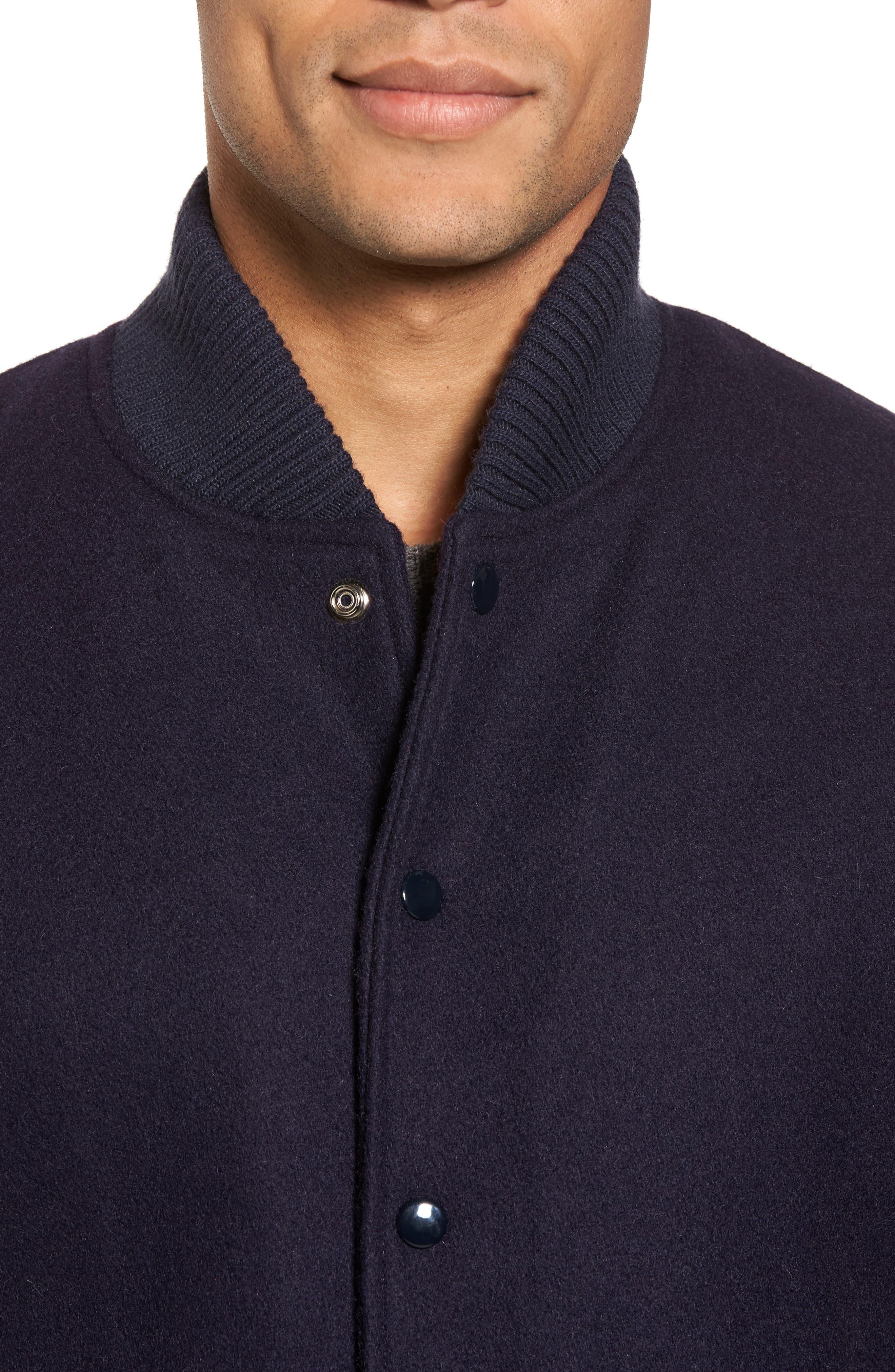 Classic Varsity Jacket,                             Alternate thumbnail 4, color,                             Navy