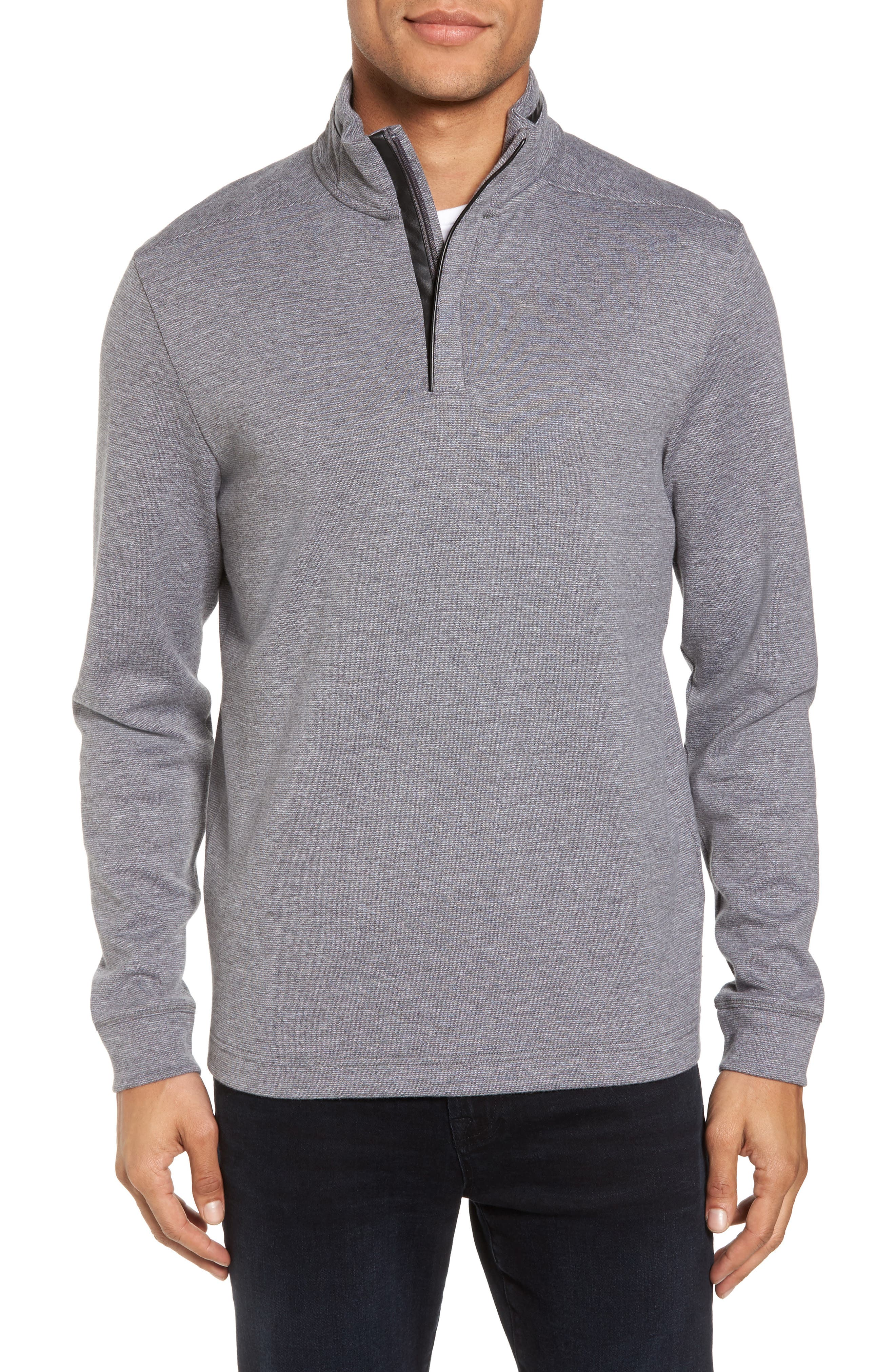BOSS C-Piceno Quarter Zip Fleece Pullover