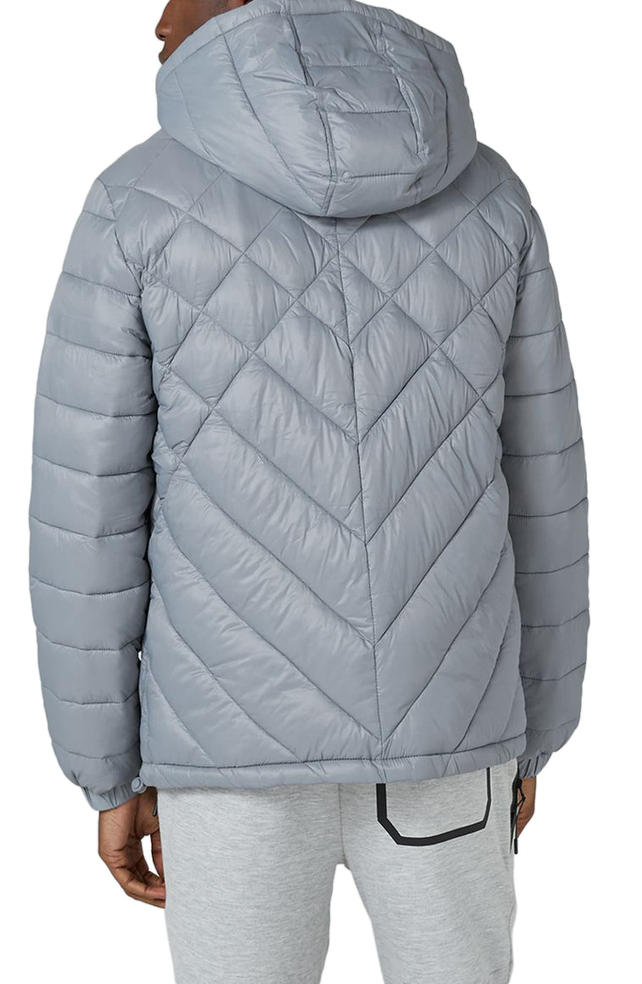 Alternate Image 2  - Topman Hooded Quilted Jacket