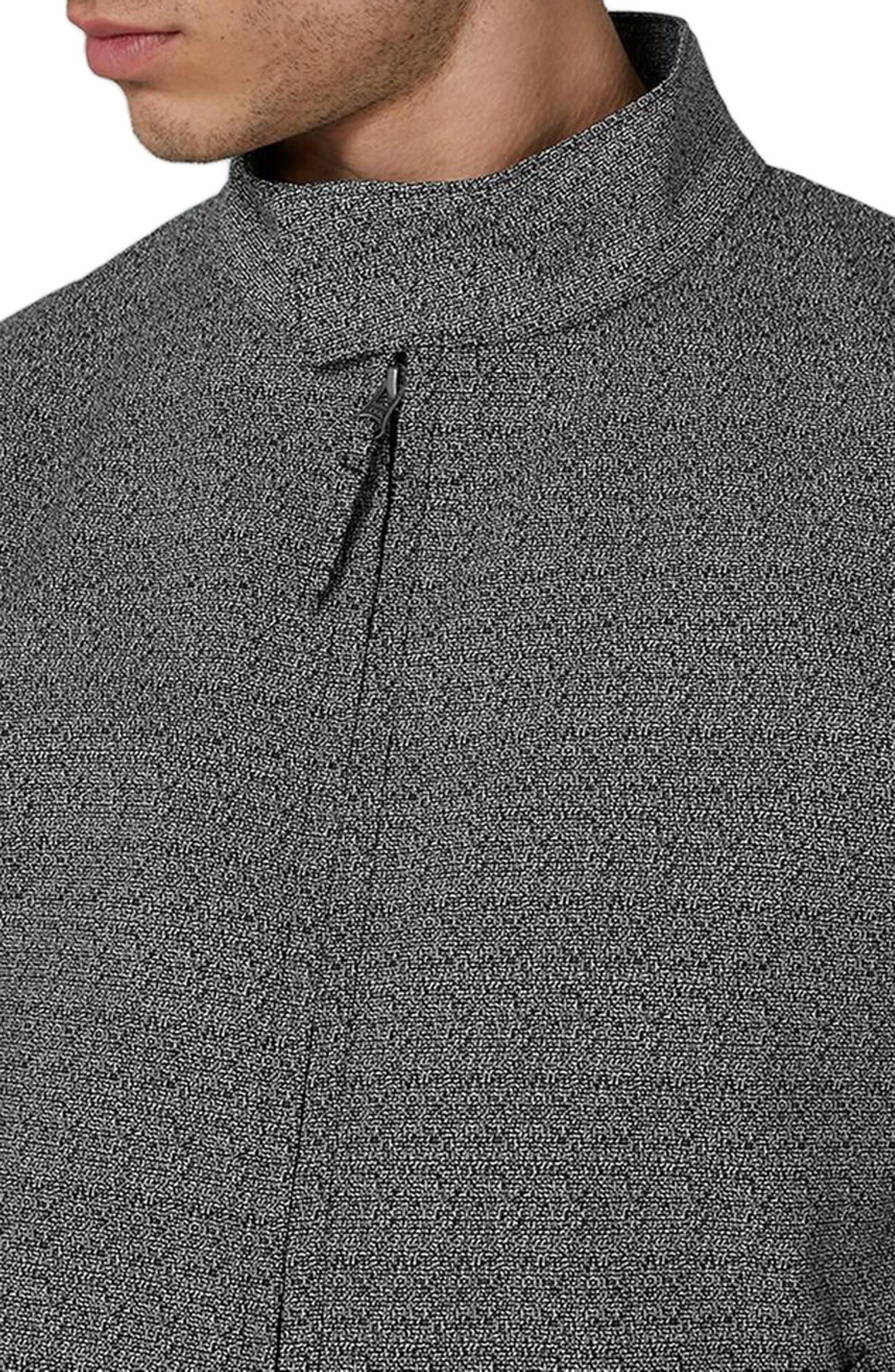 Alternate Image 3  - Topman Textured Harrington Jacket