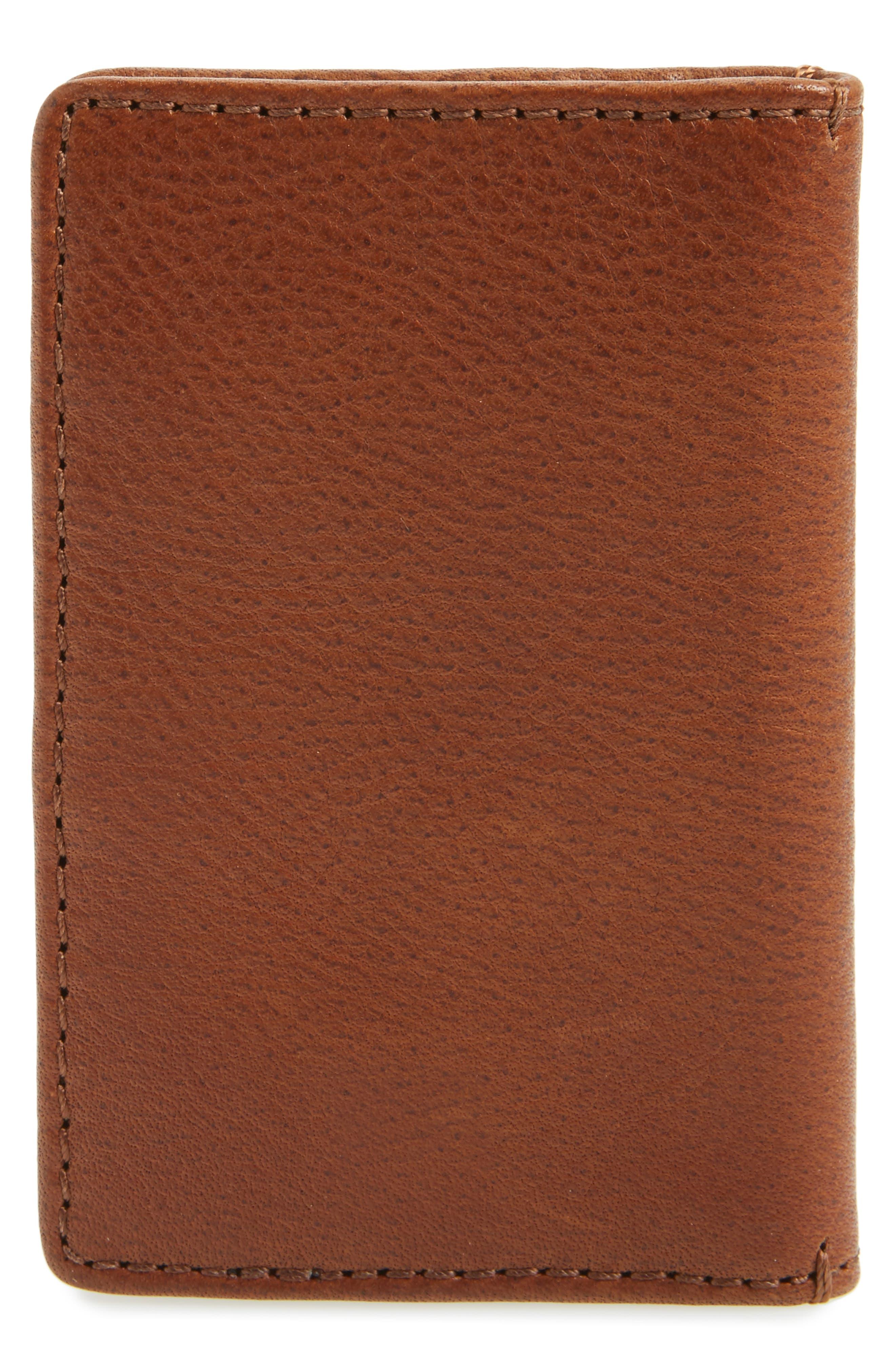 Oliver Leather Wallet,                             Alternate thumbnail 3, color,                             Cognac