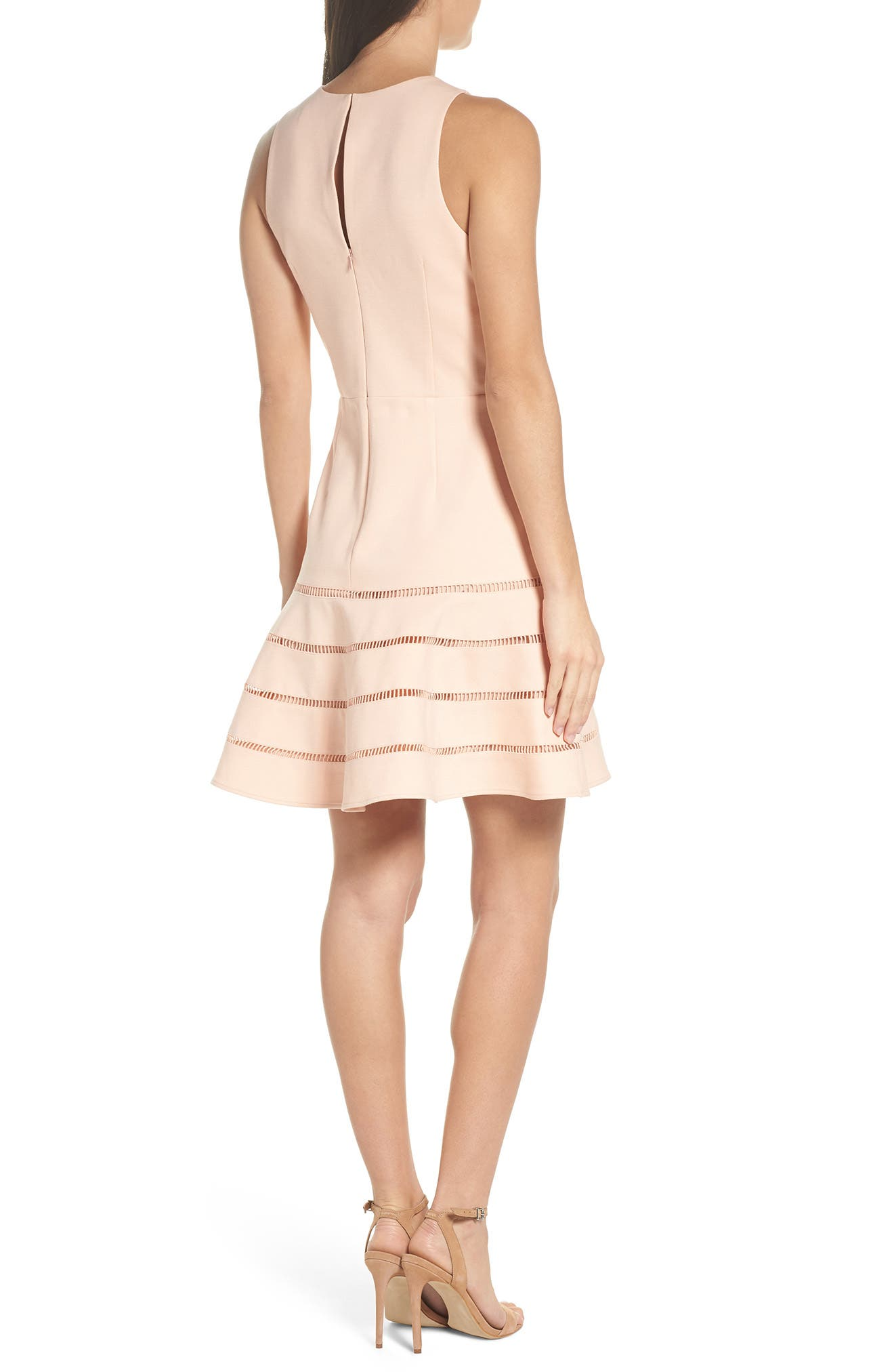Peggy Fit & Flare Dress,                             Alternate thumbnail 2, color,                             Pink Sand