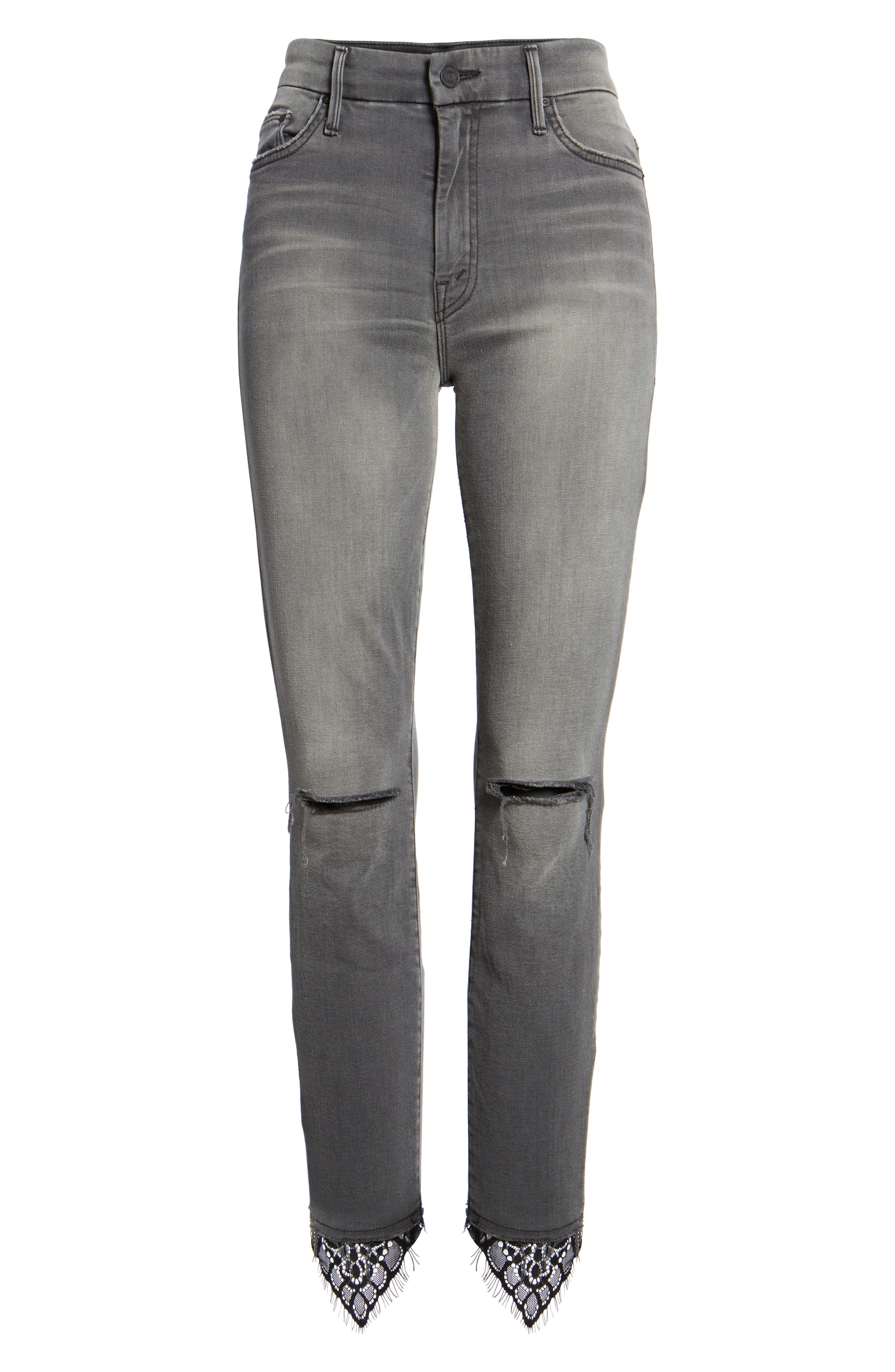 The Looker High Waist Ankle Skinny Jeans,                             Alternate thumbnail 7, color,                             Lacey Saloon