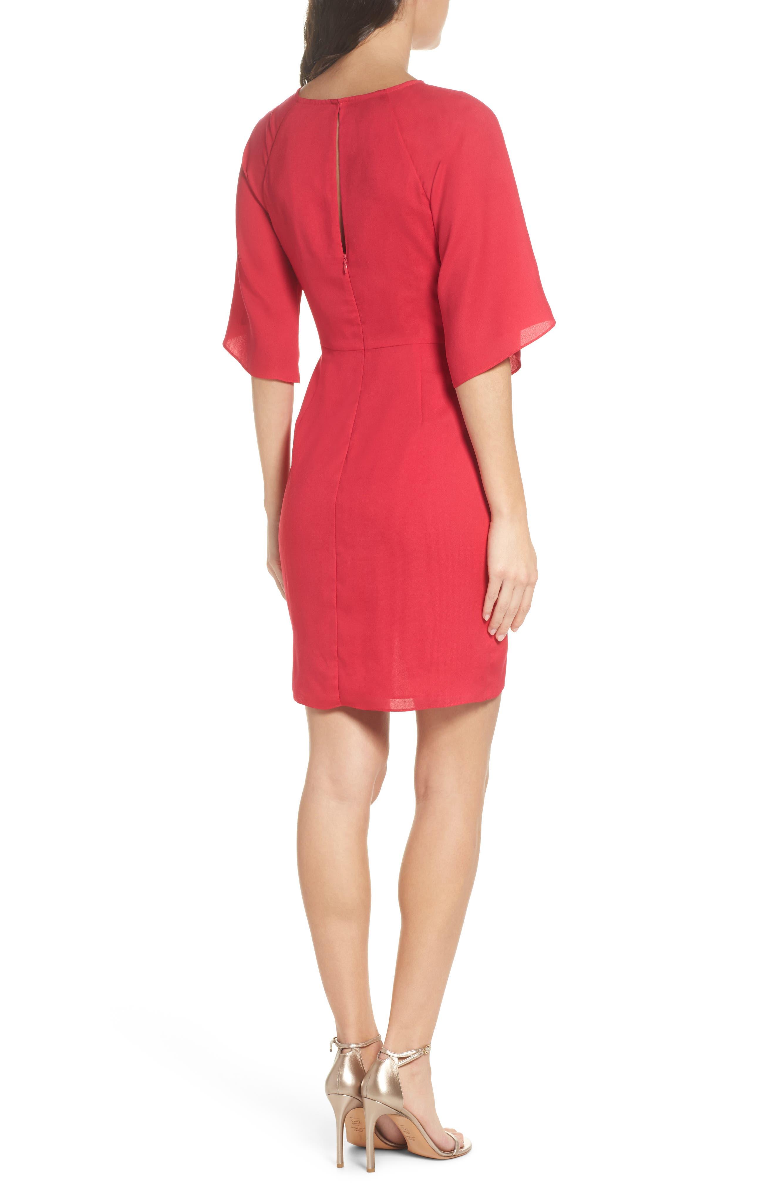 Abbey Faux Wrap Dress,                             Alternate thumbnail 2, color,                             Fuchsia