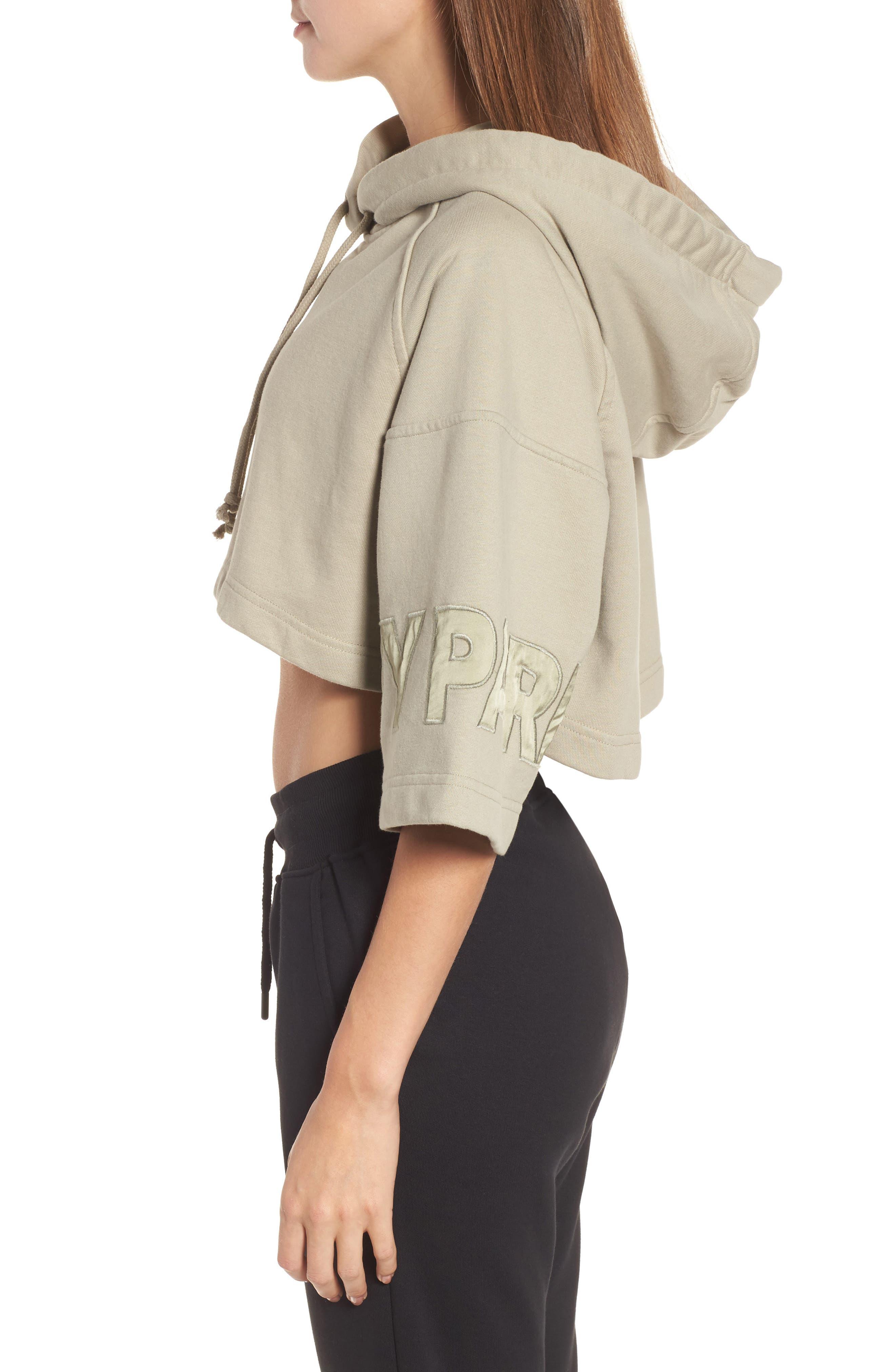Alternate Image 3  - IVY PARK® Short Sleeve Crop Hoodie