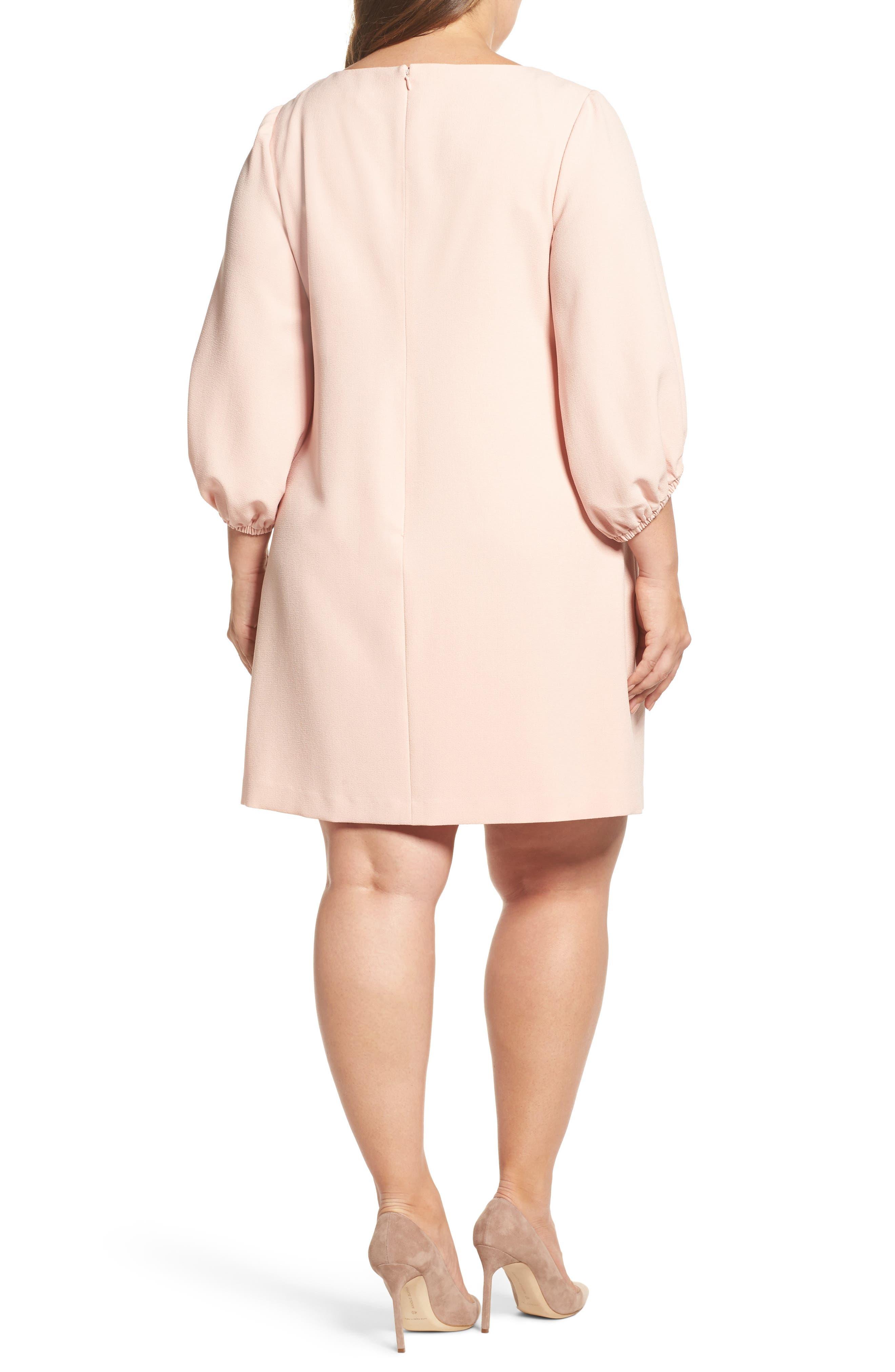 Balloon Sleeve Shift Dress,                             Alternate thumbnail 2, color,                             Blush