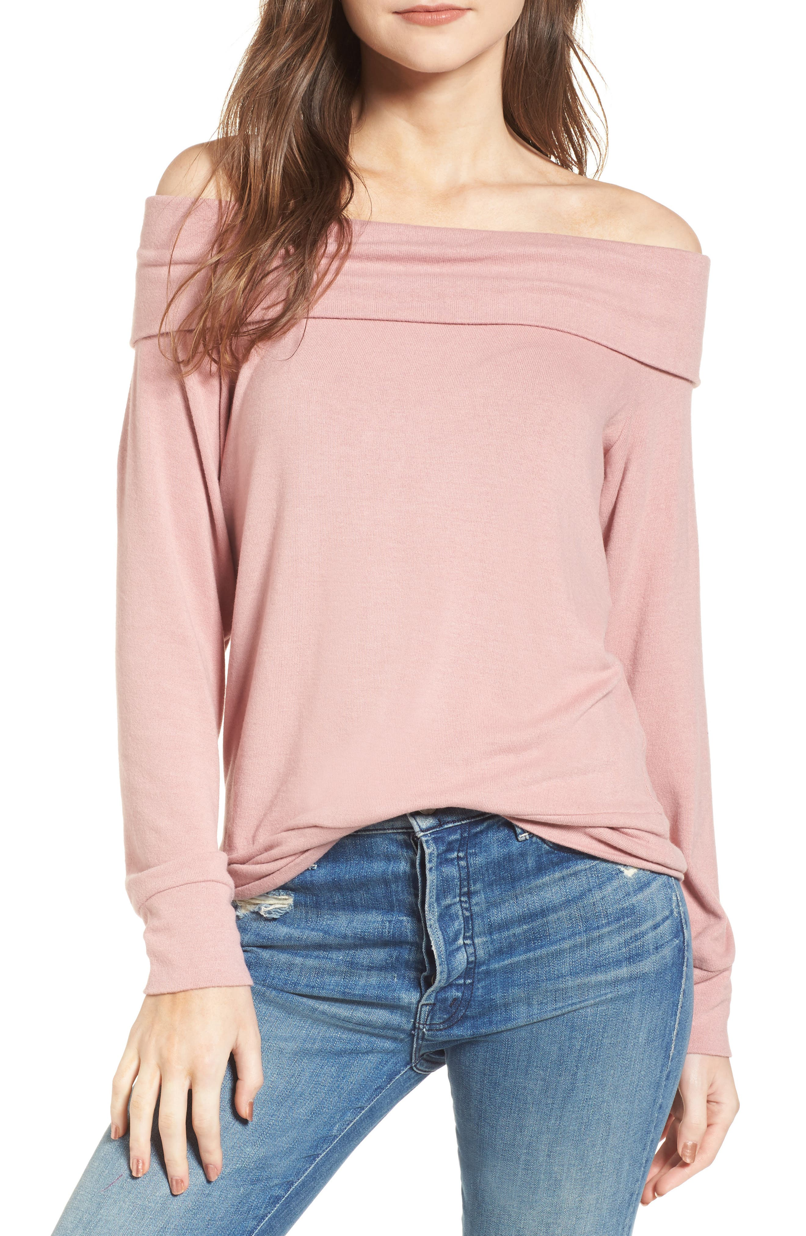 cupcakes and cashmere Brooklyn Off the Shoulder Sweater