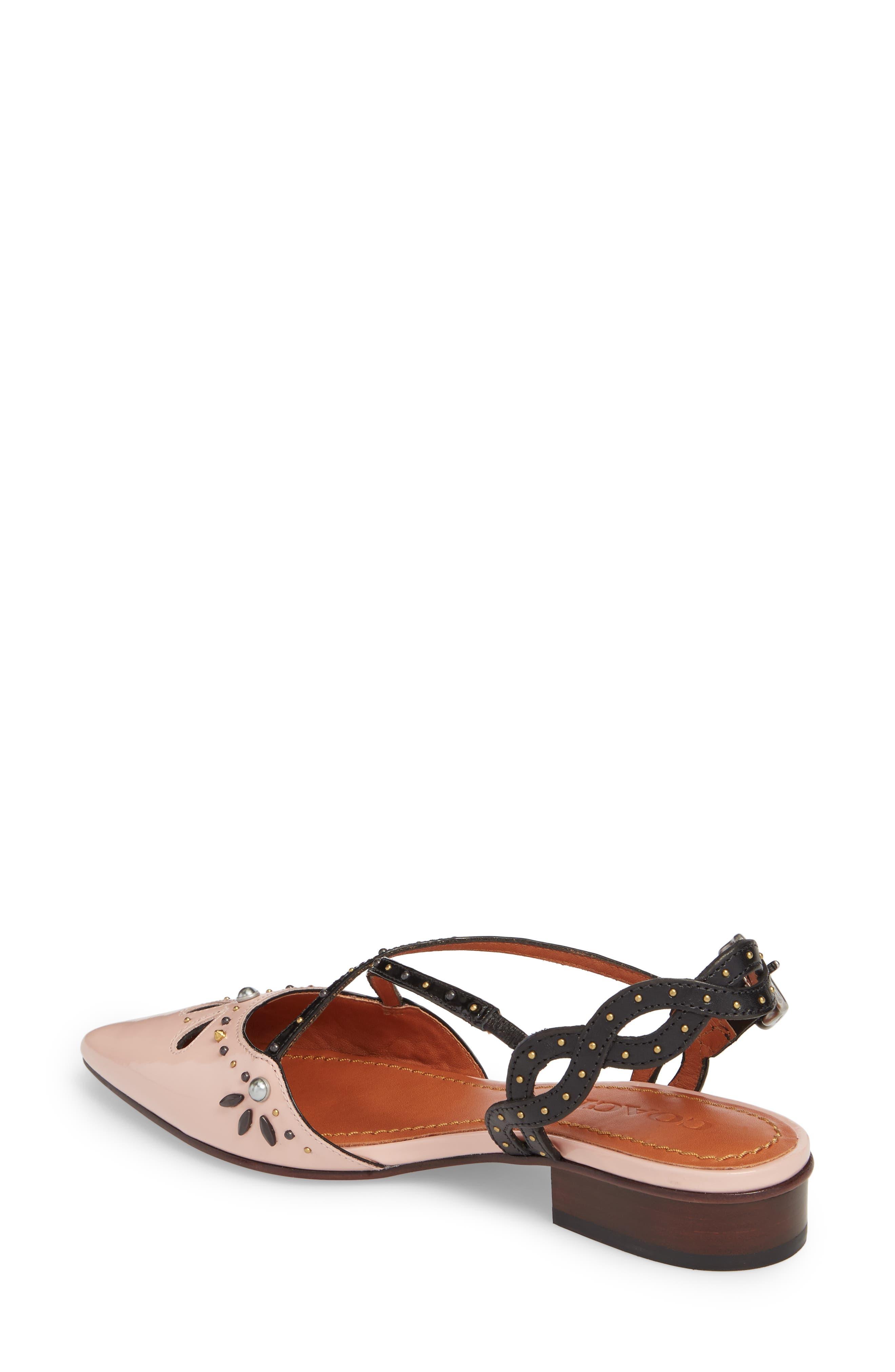 Prairie Rivet Sandal,                             Alternate thumbnail 2, color,                             Pink/ Black Leather
