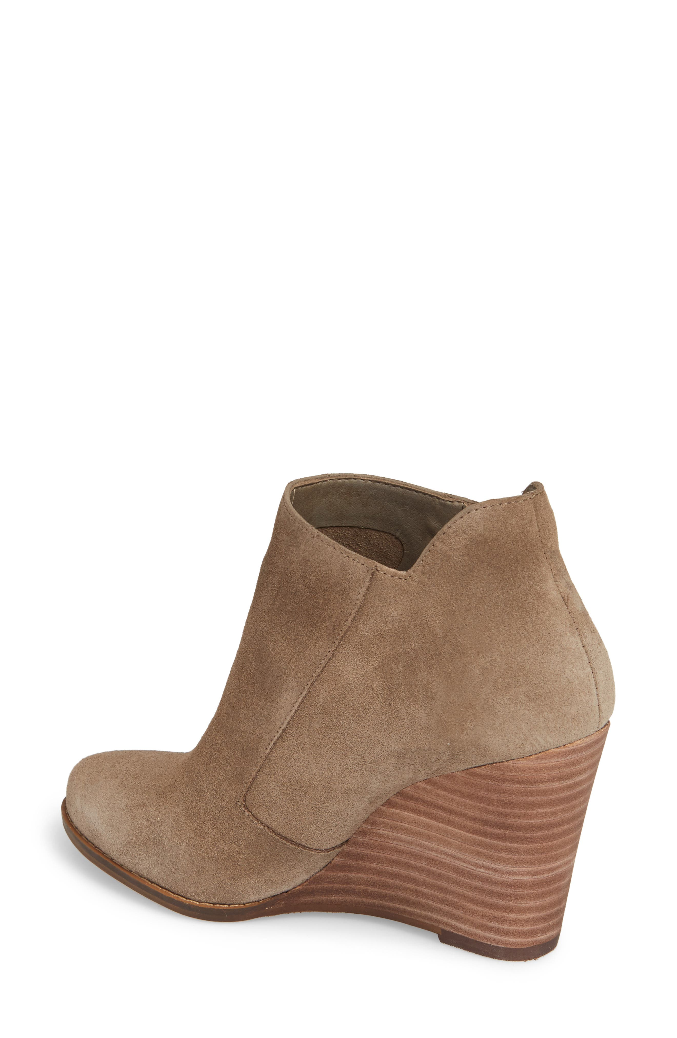 Carnivela Wedge Bootie,                             Alternate thumbnail 2, color,                             Greyhound Suede