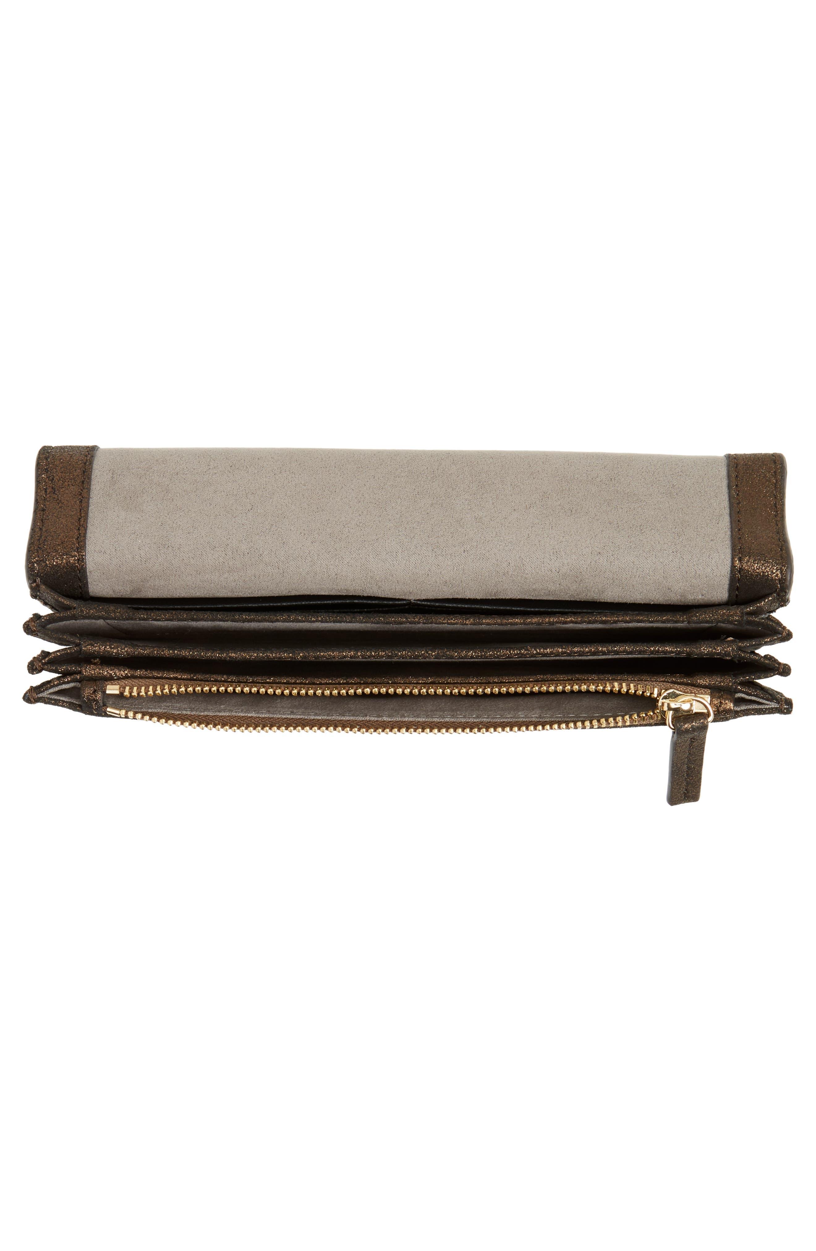 Fit Studded Leather Wallet,                             Alternate thumbnail 2, color,                             Antique Bronze