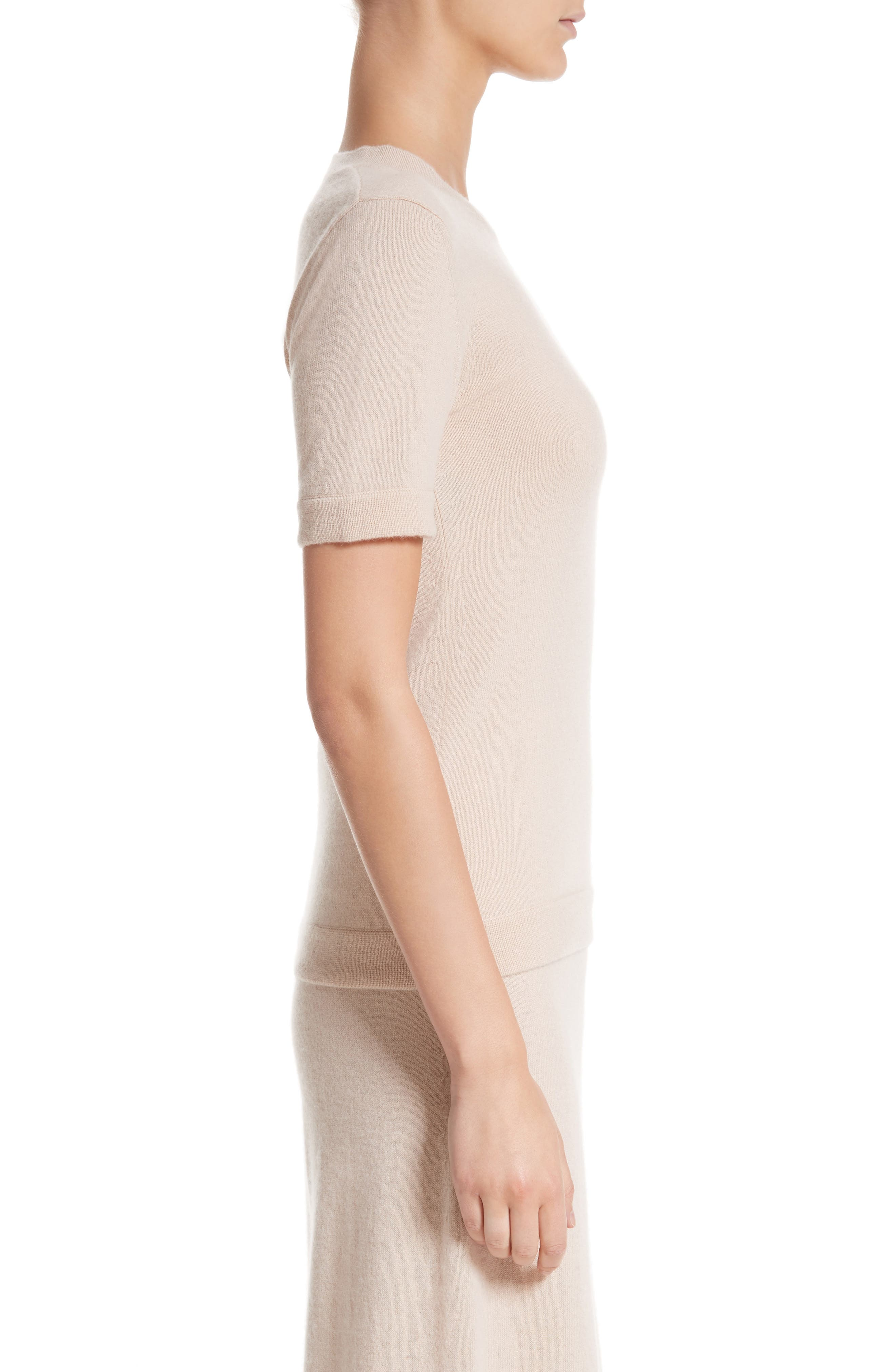 Cashmere Tee,                             Alternate thumbnail 3, color,                             Fawn