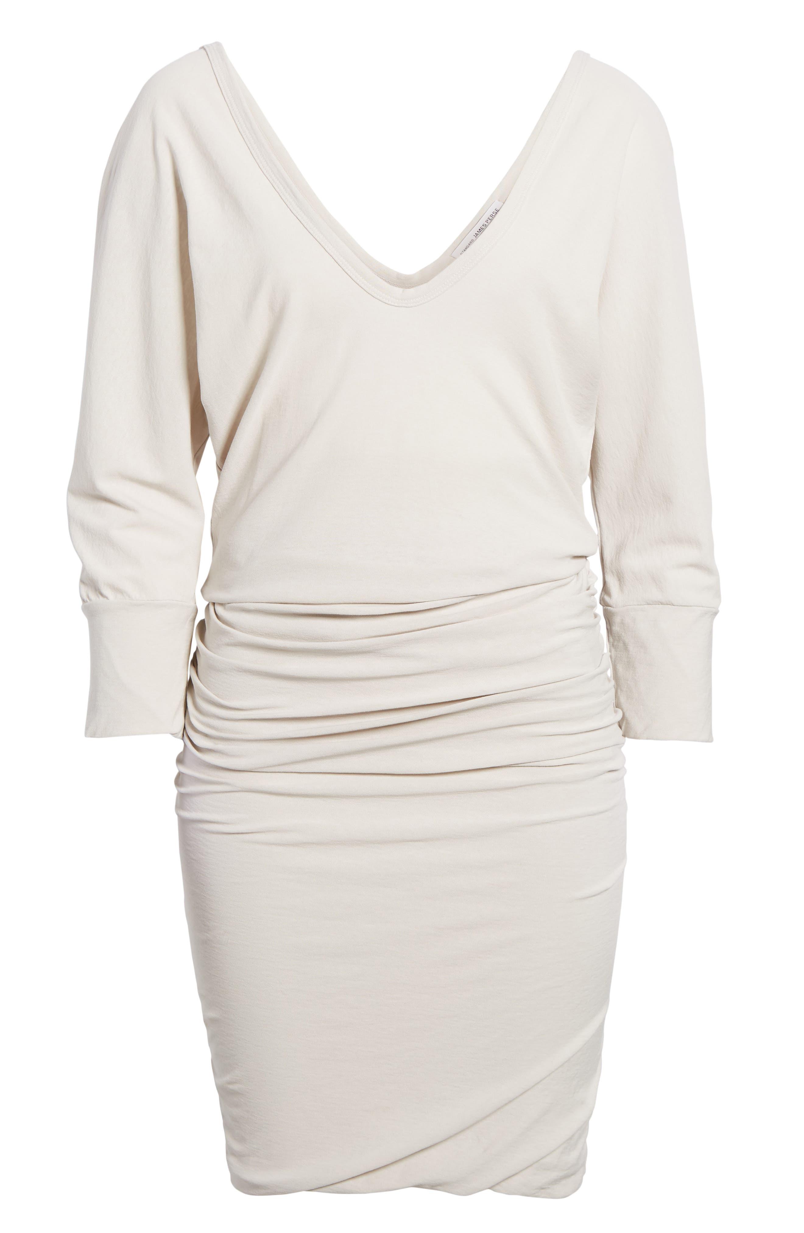 Shirred Cotton Dress,                             Alternate thumbnail 6, color,                             Dapple