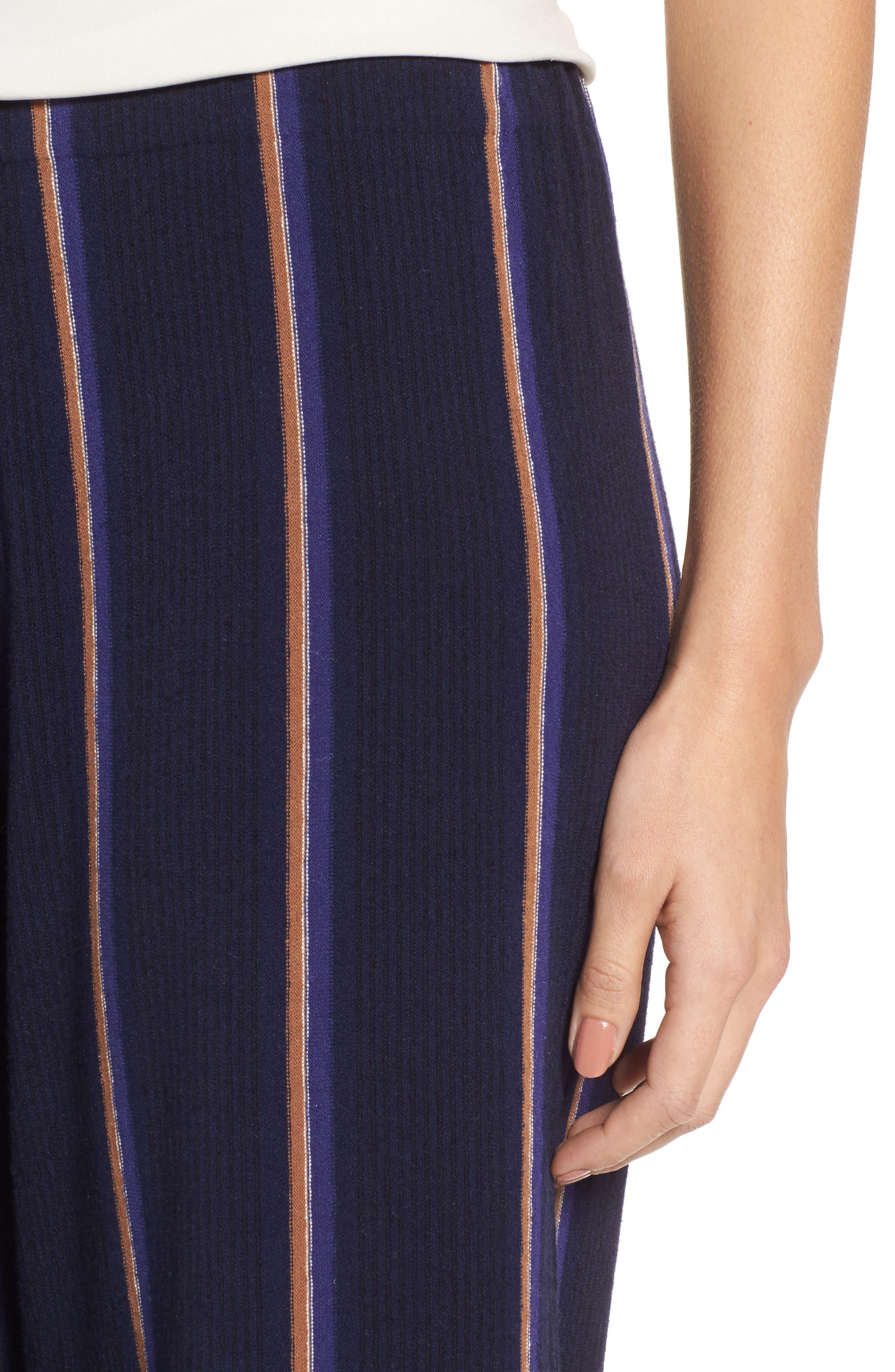 Alternate Image 4  - NIC+ZOE Lined Up Knit Pants