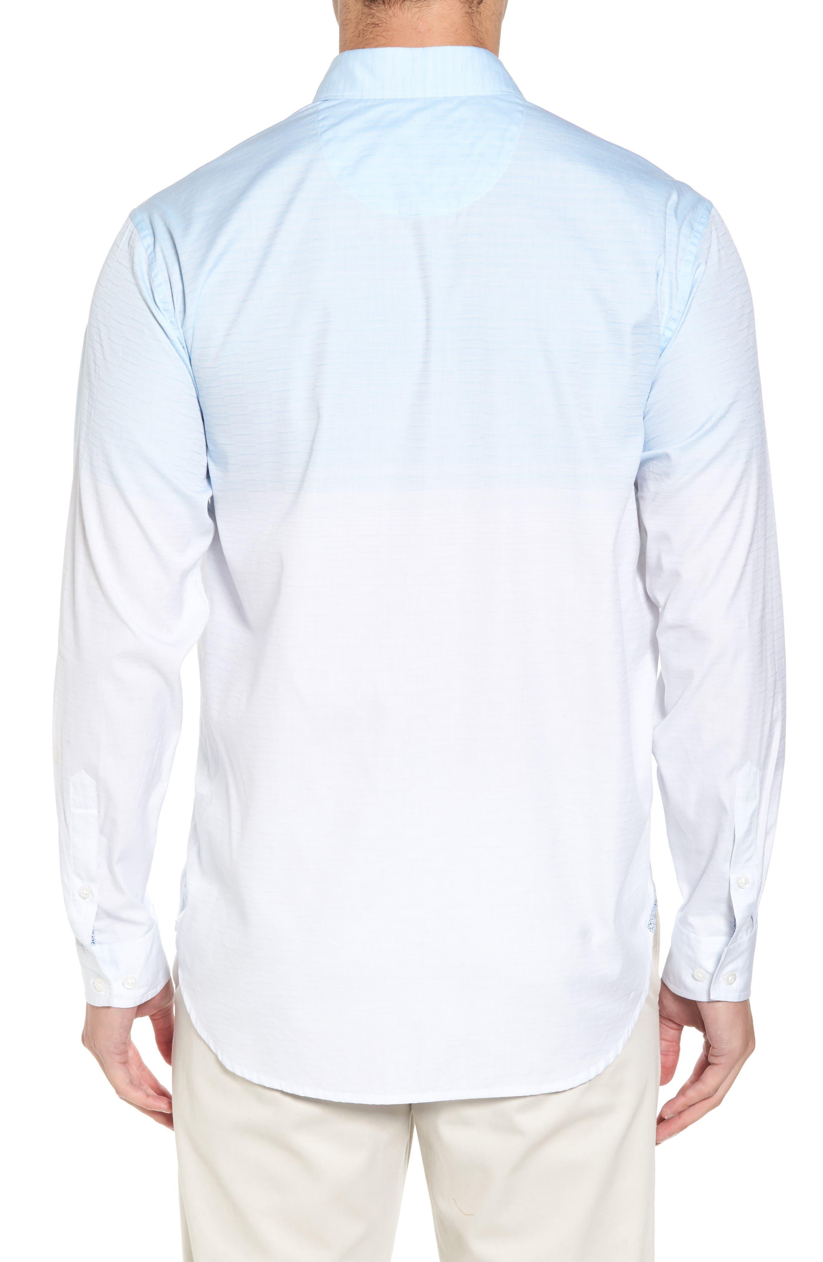 Palm Bay Ombré Sport Shirt,                             Alternate thumbnail 2, color,                             Opal
