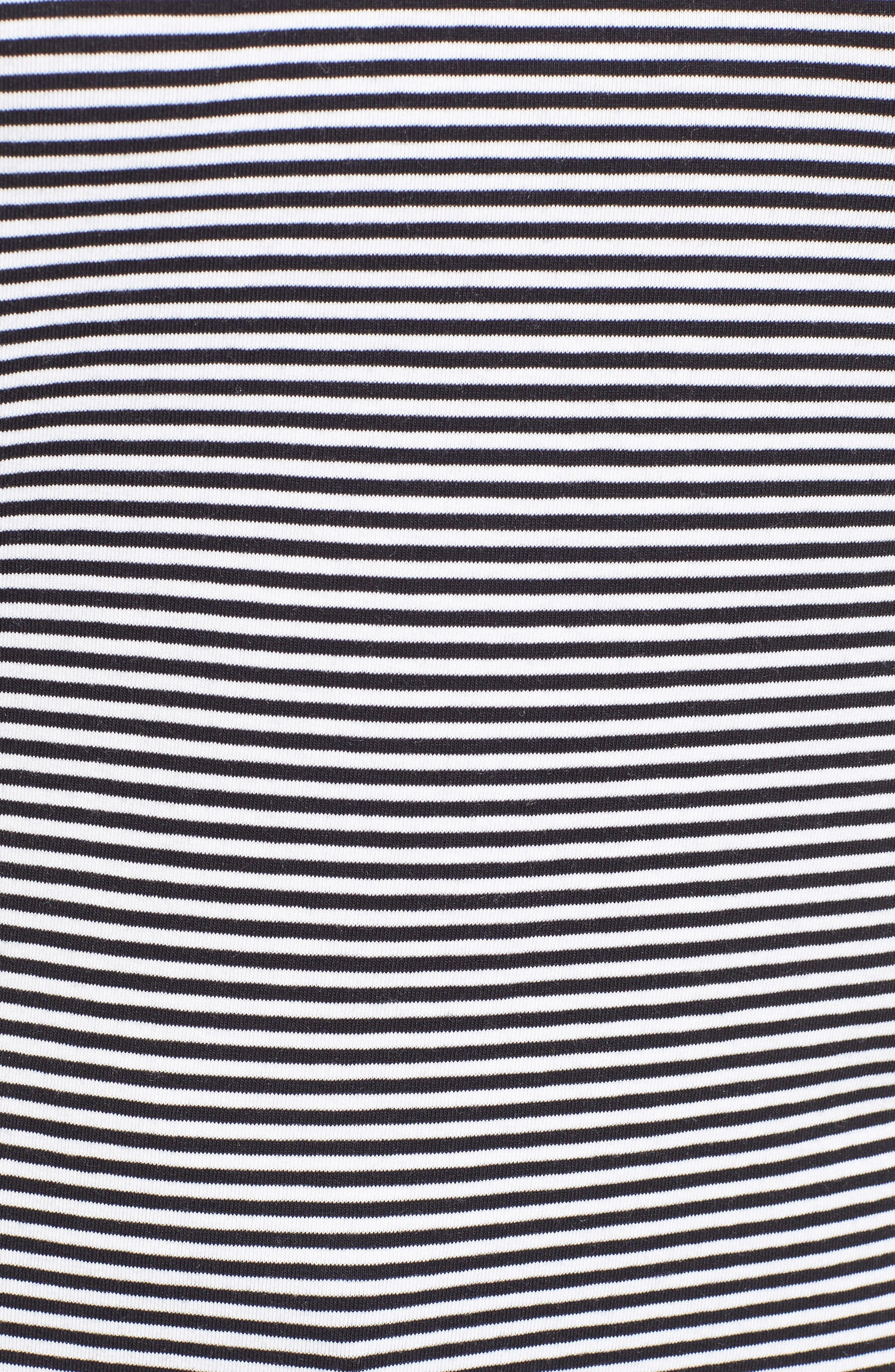 Alternate Image 5  - Nordstrom Signature Stripe Scoop Neck Tee