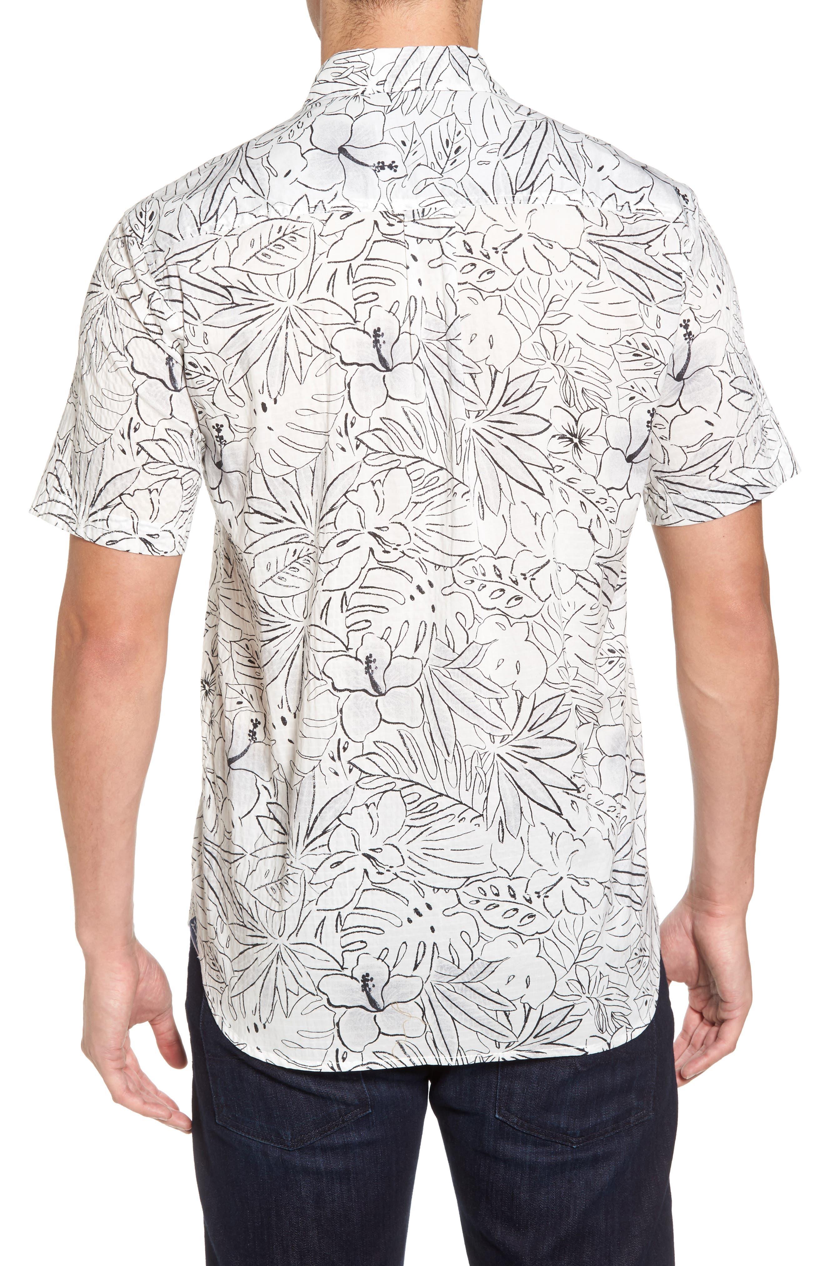 Alternate Image 2  - Tommy Bahama Sarasota Sketch Standard Fit Stretch Cotton Camp Shirt