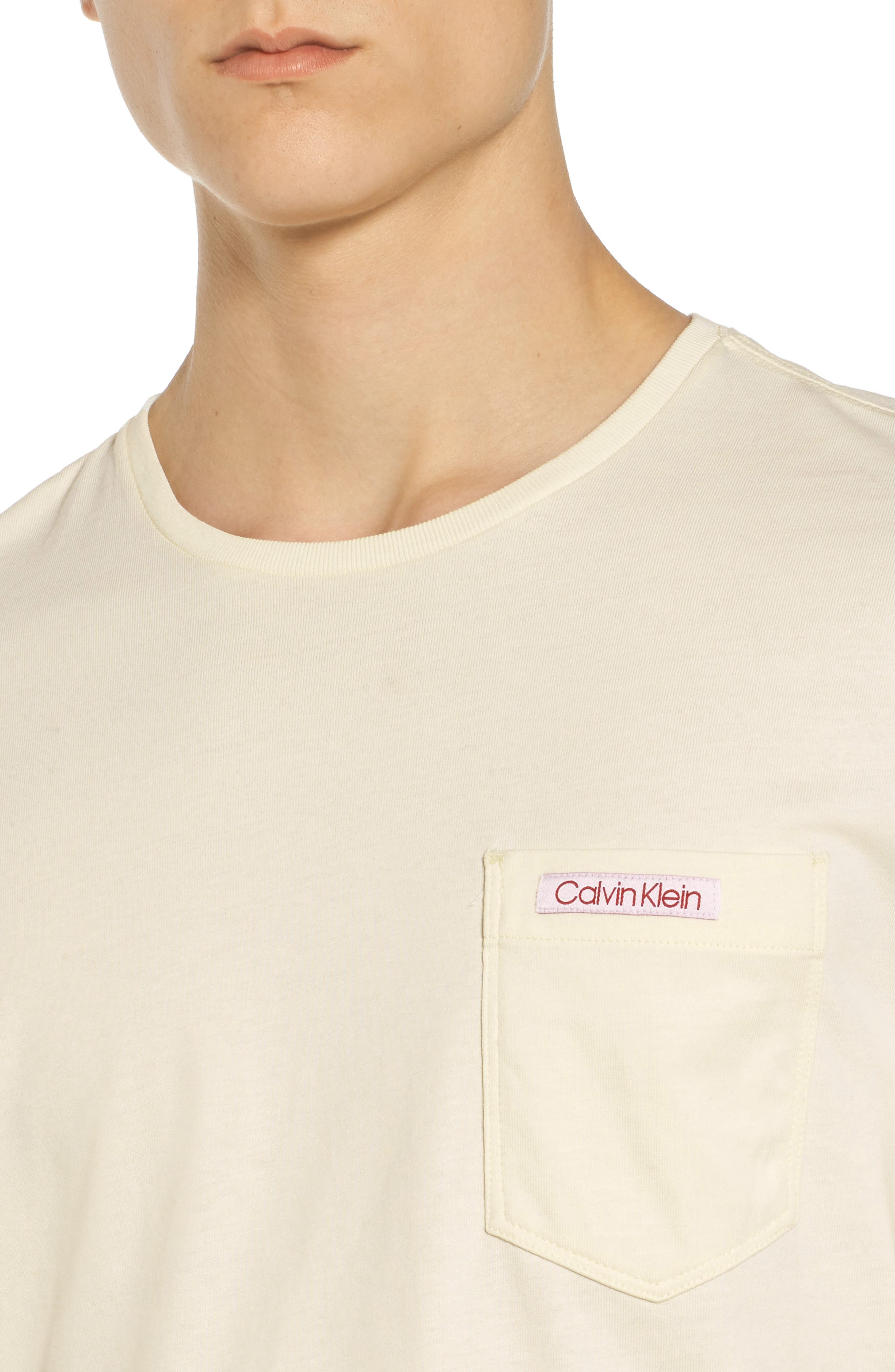 Alternate Image 4  - Calvin Klein Jeans Label Pocket T-Shirt